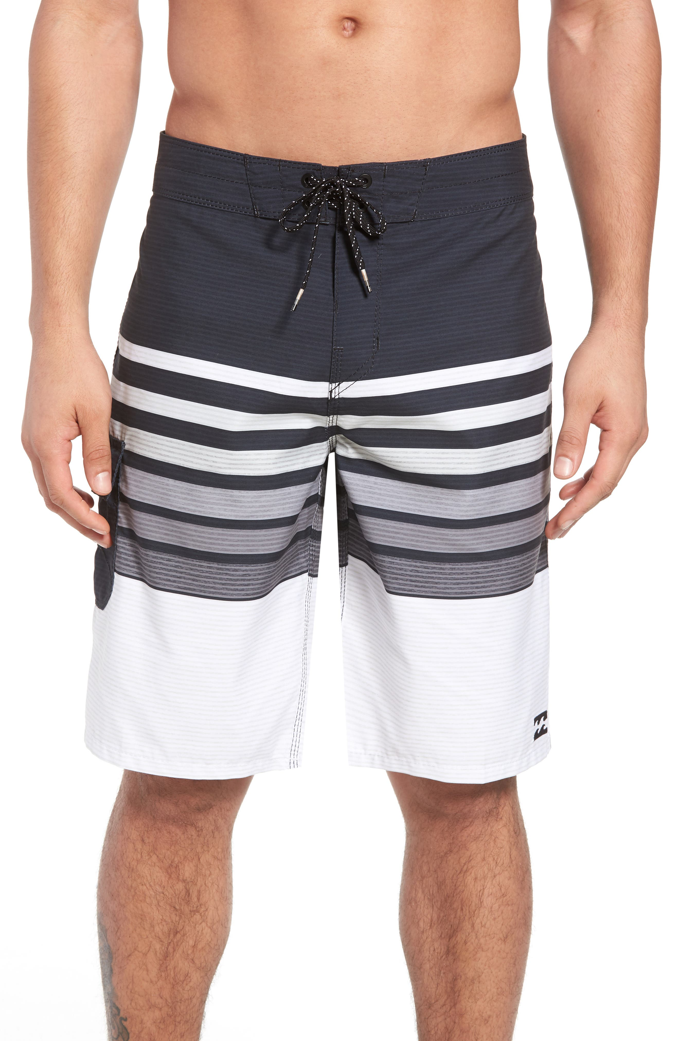 All Day OG Stripe Board Shorts,                             Main thumbnail 1, color,                             001
