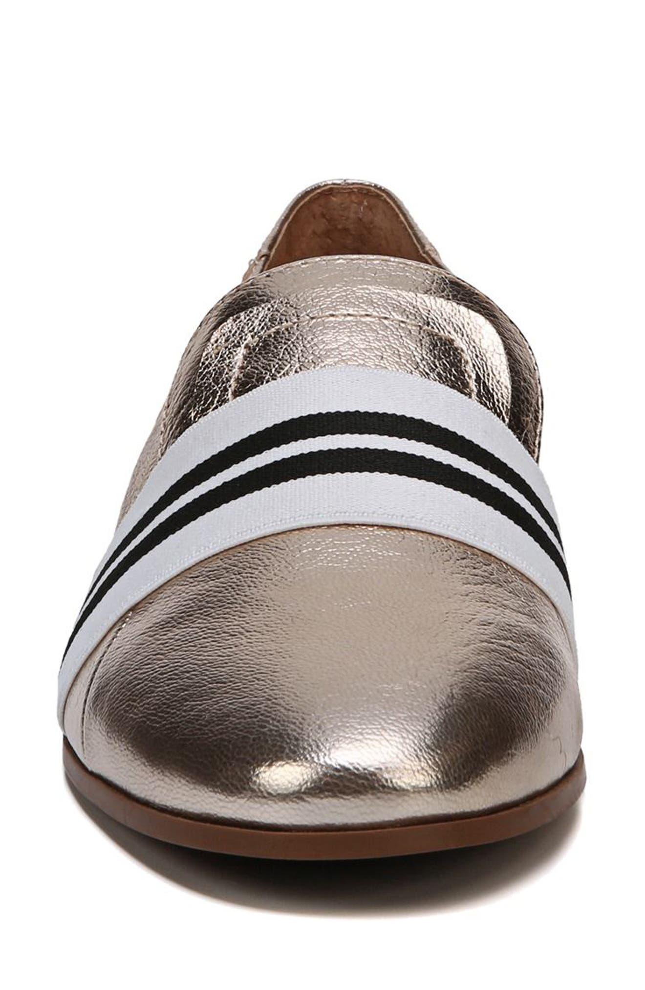 Odyssey Loafer,                             Alternate thumbnail 4, color,                             PLATINO LEATHER