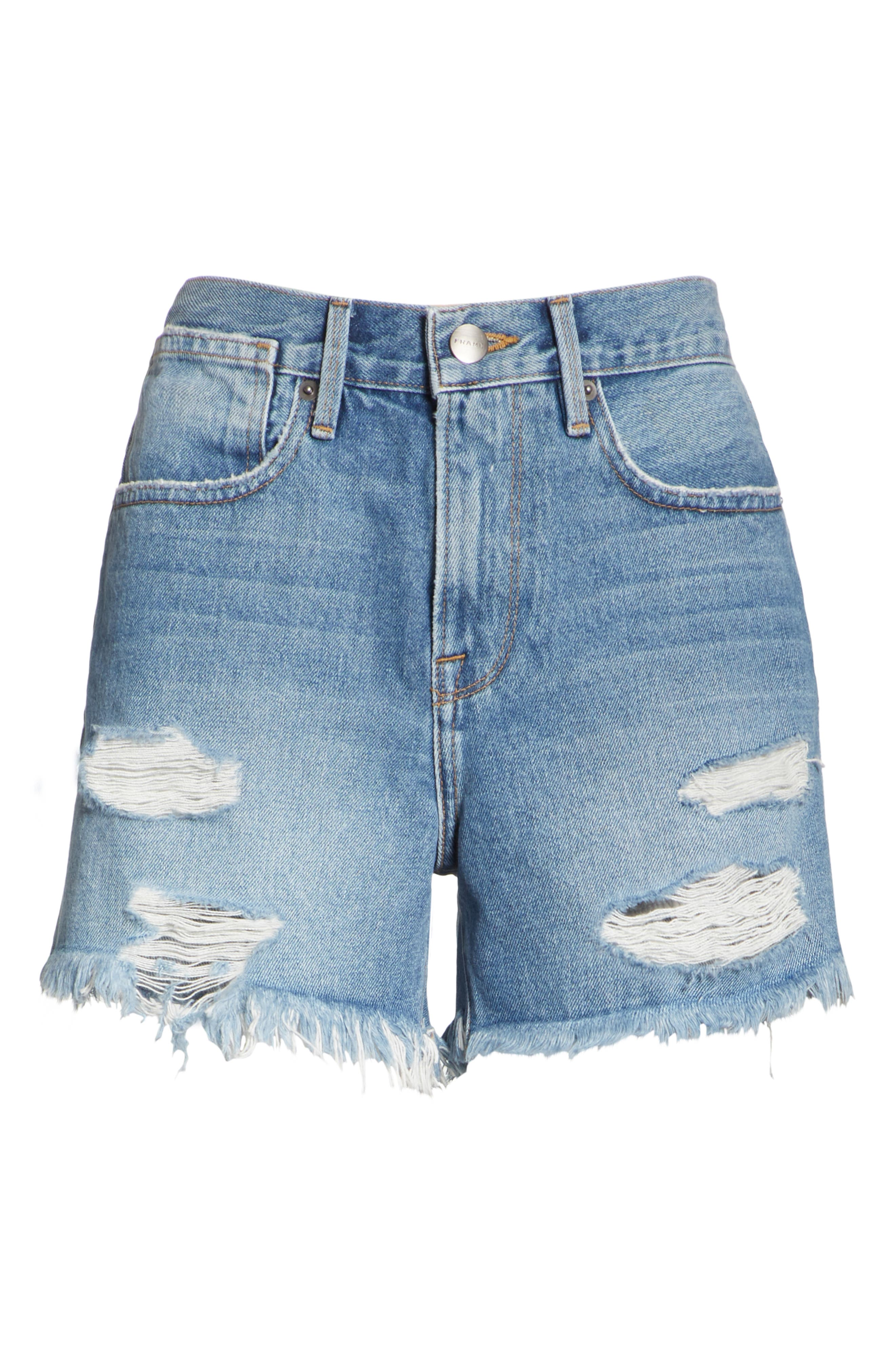 Le Stevie Denim Shorts,                             Alternate thumbnail 6, color,                             401