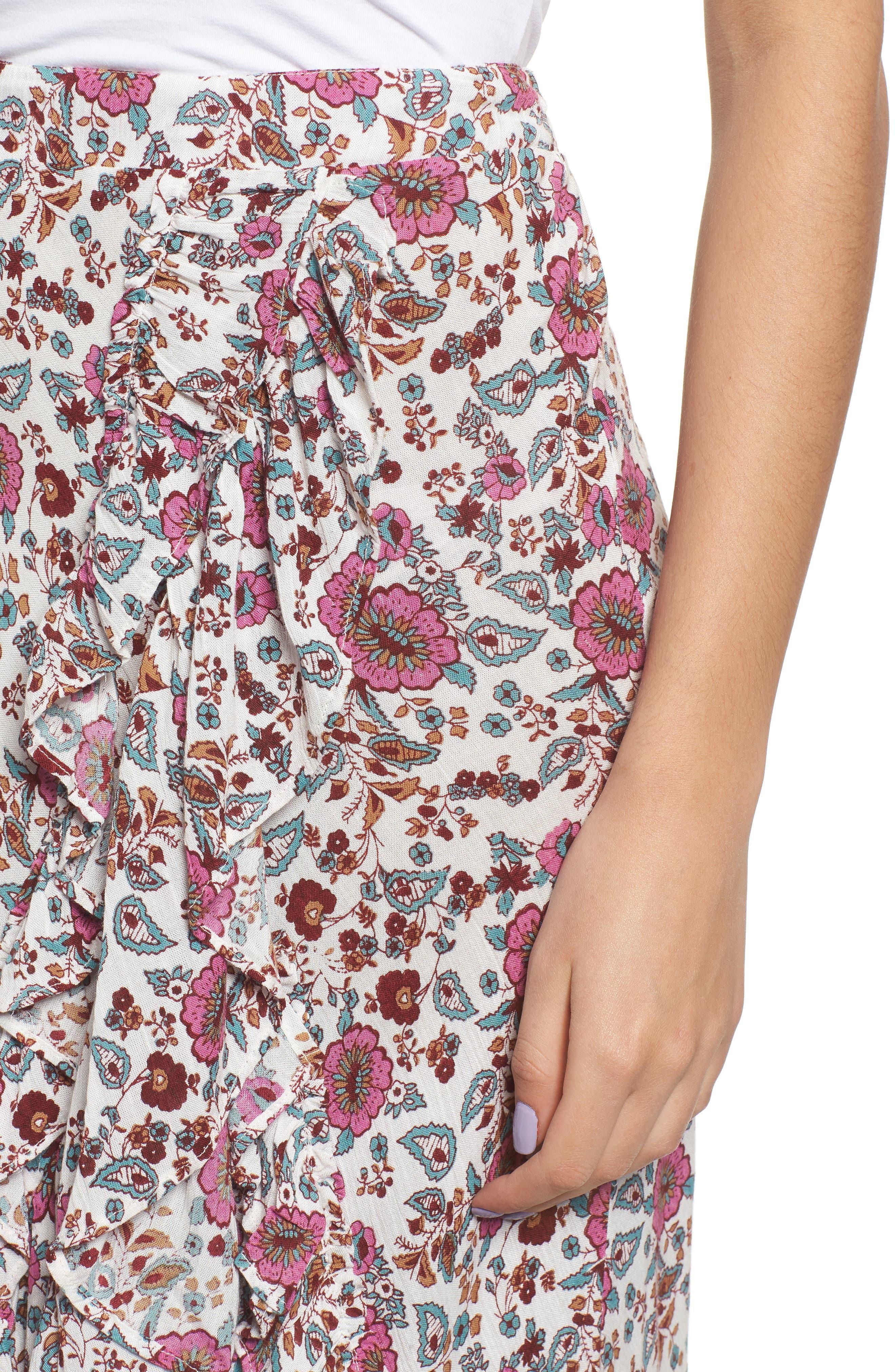 Summer Bloom Ruffle Skirt,                             Alternate thumbnail 4, color,                             650