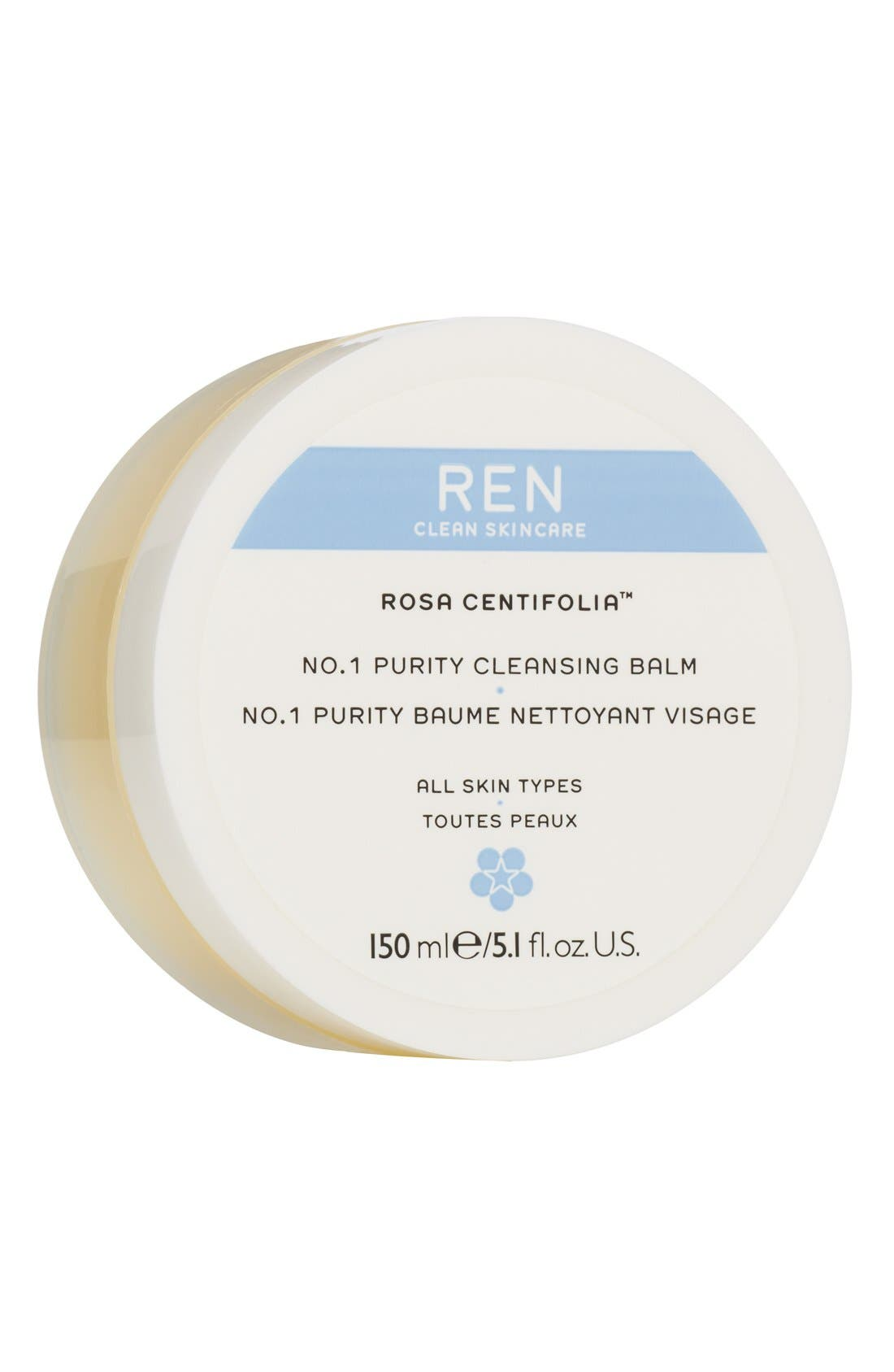 SPACE.NK.apothecary REN Rosa Centifolia No.1 Purity Cleansing Balm,                             Alternate thumbnail 4, color,                             NO COLOR