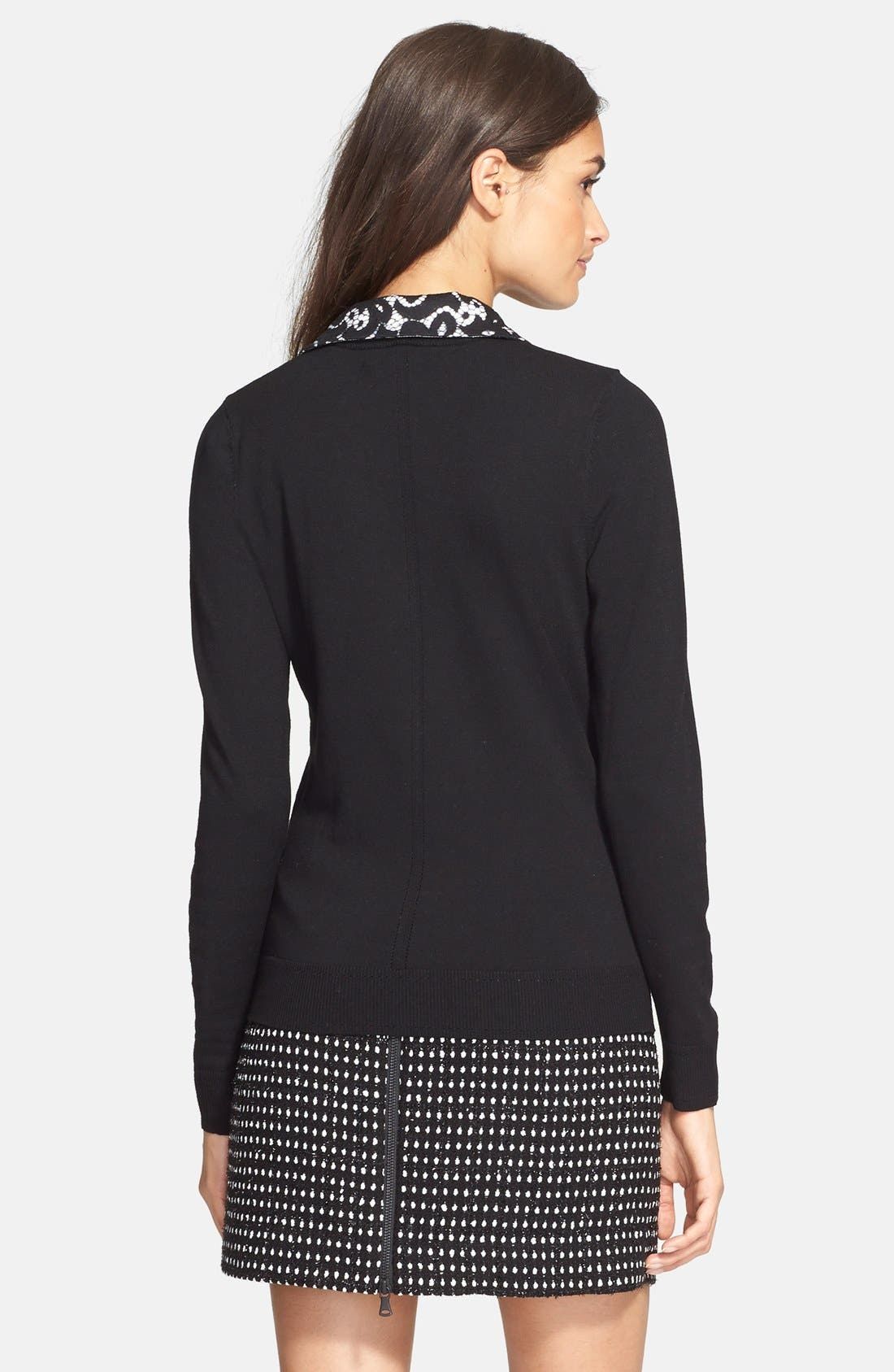MILLY,                             Lace Collar Sweater,                             Alternate thumbnail 2, color,                             002