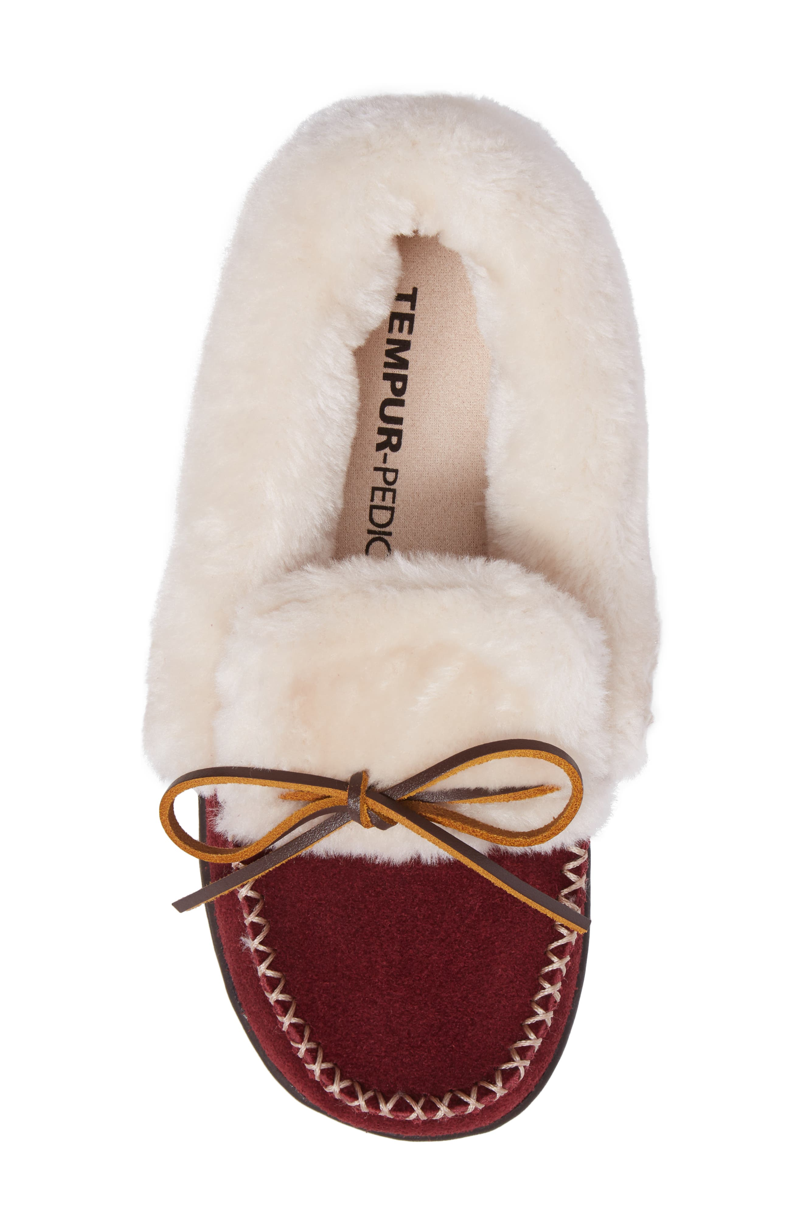 Laurin Slipper,                             Alternate thumbnail 5, color,                             RUBY SUEDE