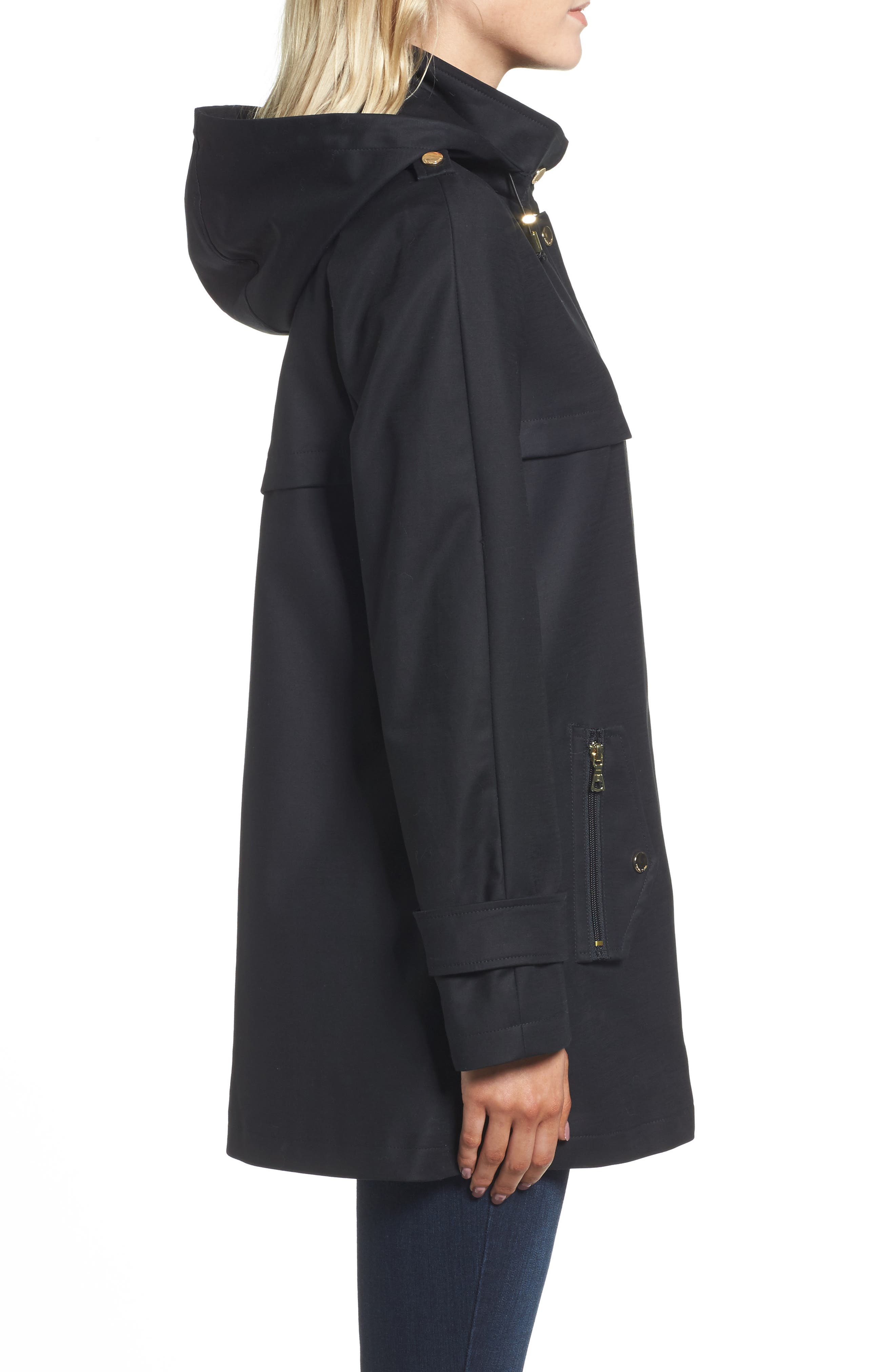 A-Line Rain Jacket,                             Alternate thumbnail 3, color,                             001