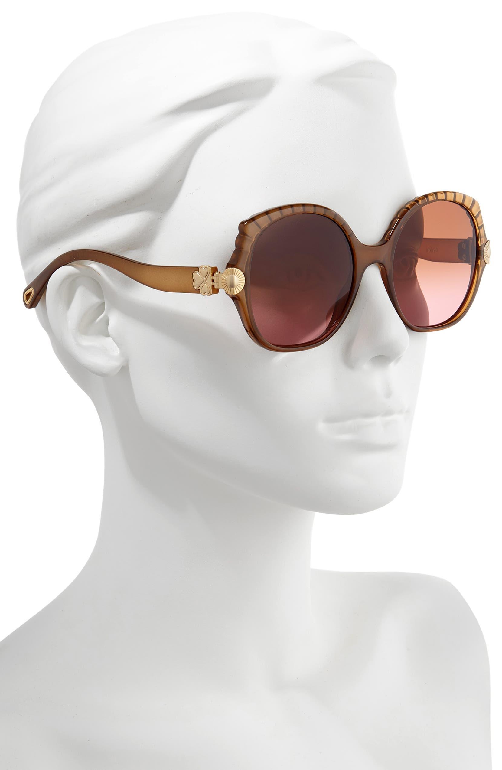 8c55b49f47e Chloé Vera 56mm Seashell Shape Sunglasses
