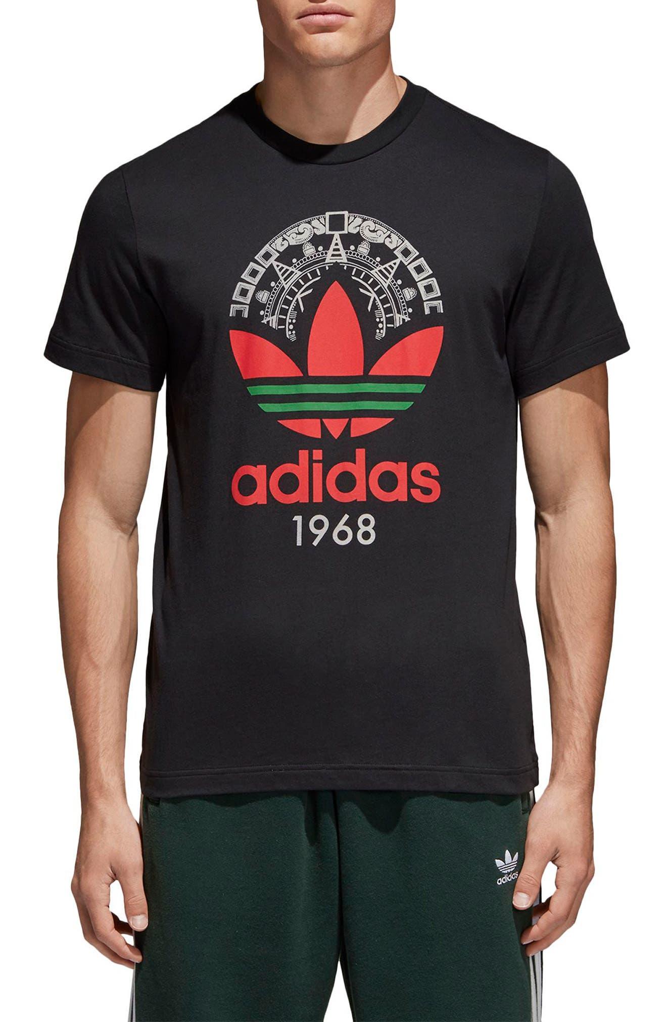 Trefoil T-Shirt,                         Main,                         color, 001