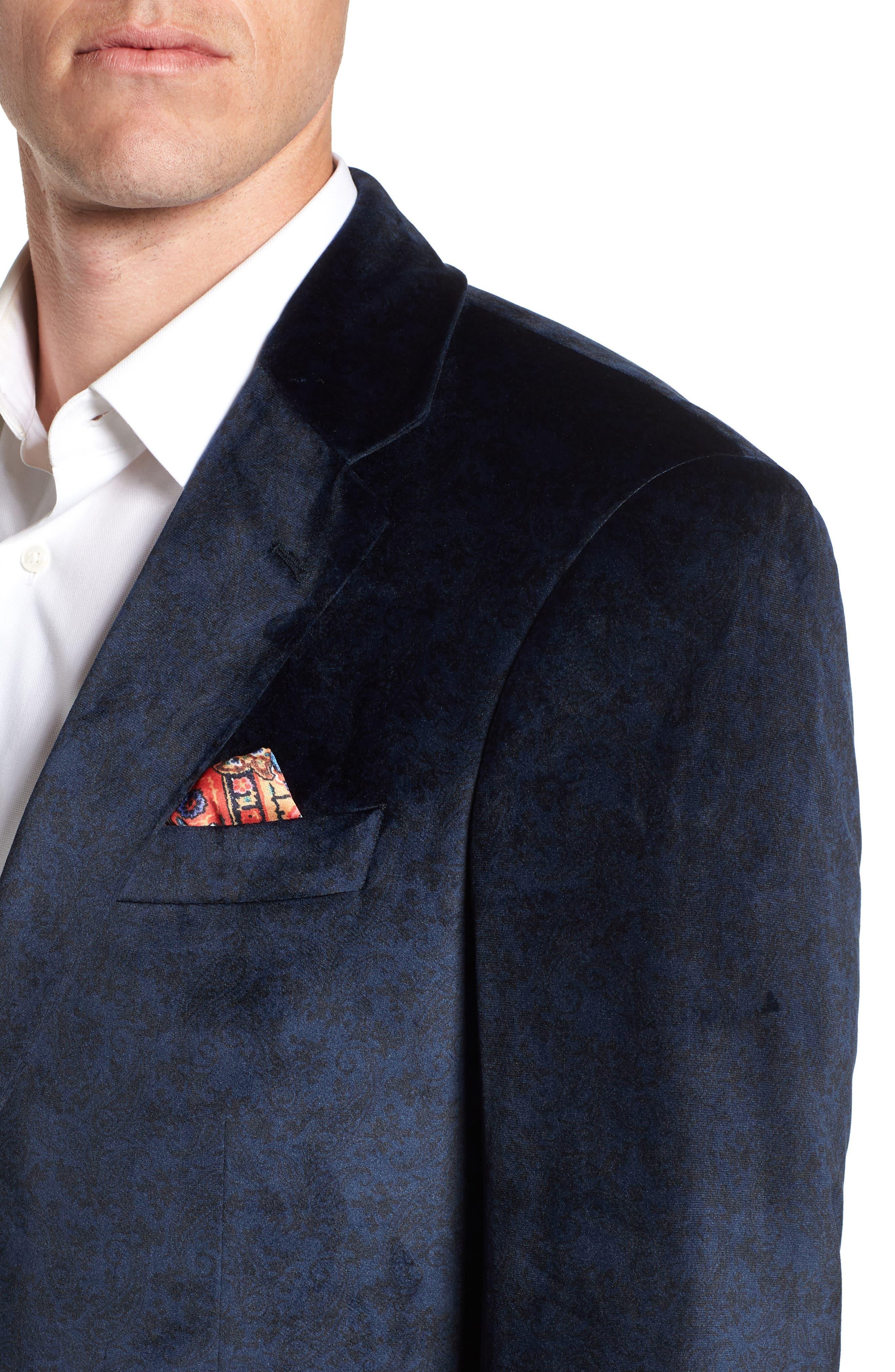 Barton Tailored Fit Blazer,                             Alternate thumbnail 4, color,                             NAVY