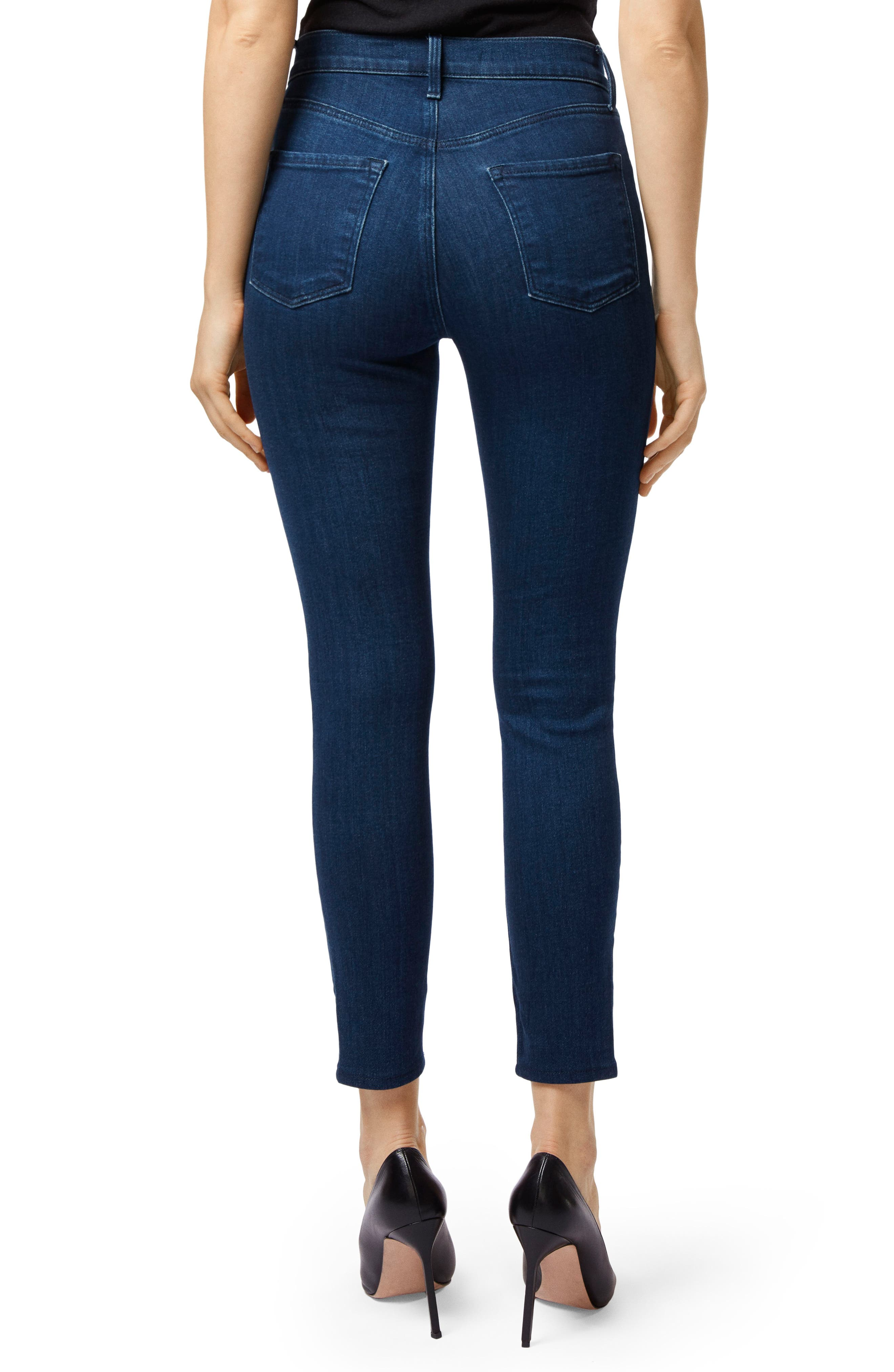 Alana Exposed Zip High Waist Ankle Skinny Jeans,                             Alternate thumbnail 2, color,                             439
