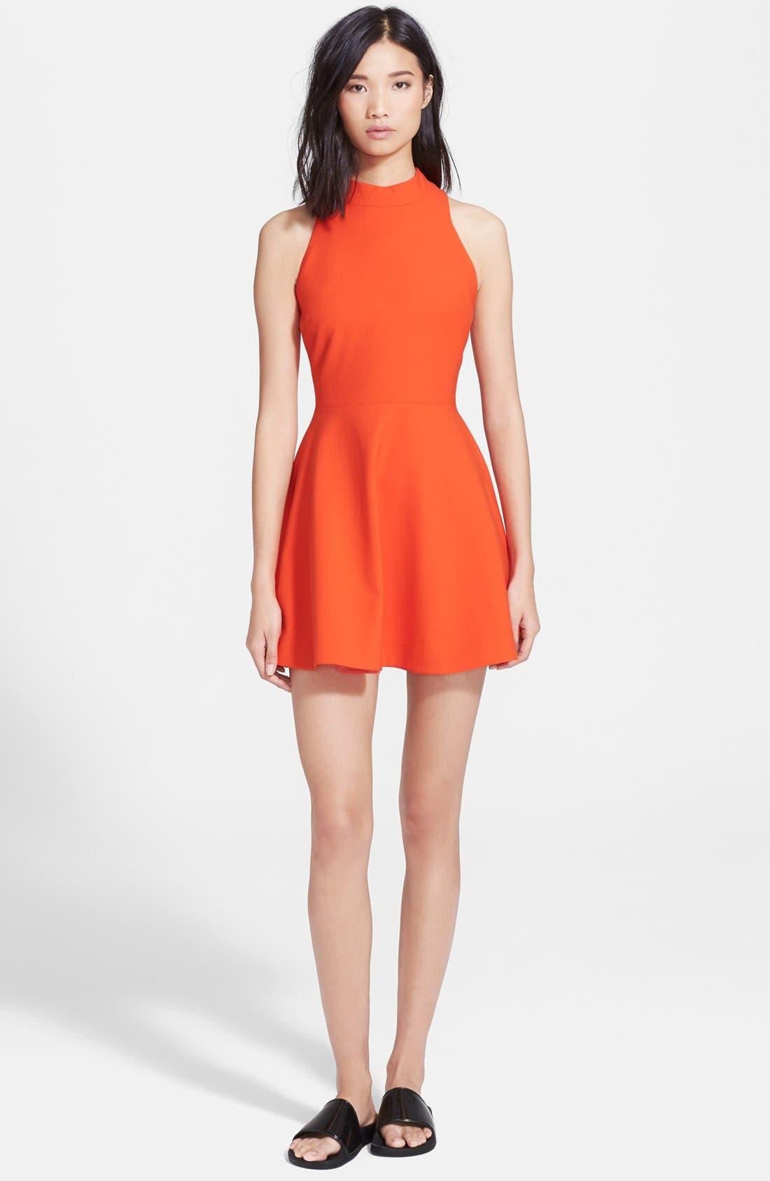 'Elle' Fit & Flare Racerback Dress,                         Main,                         color, 843