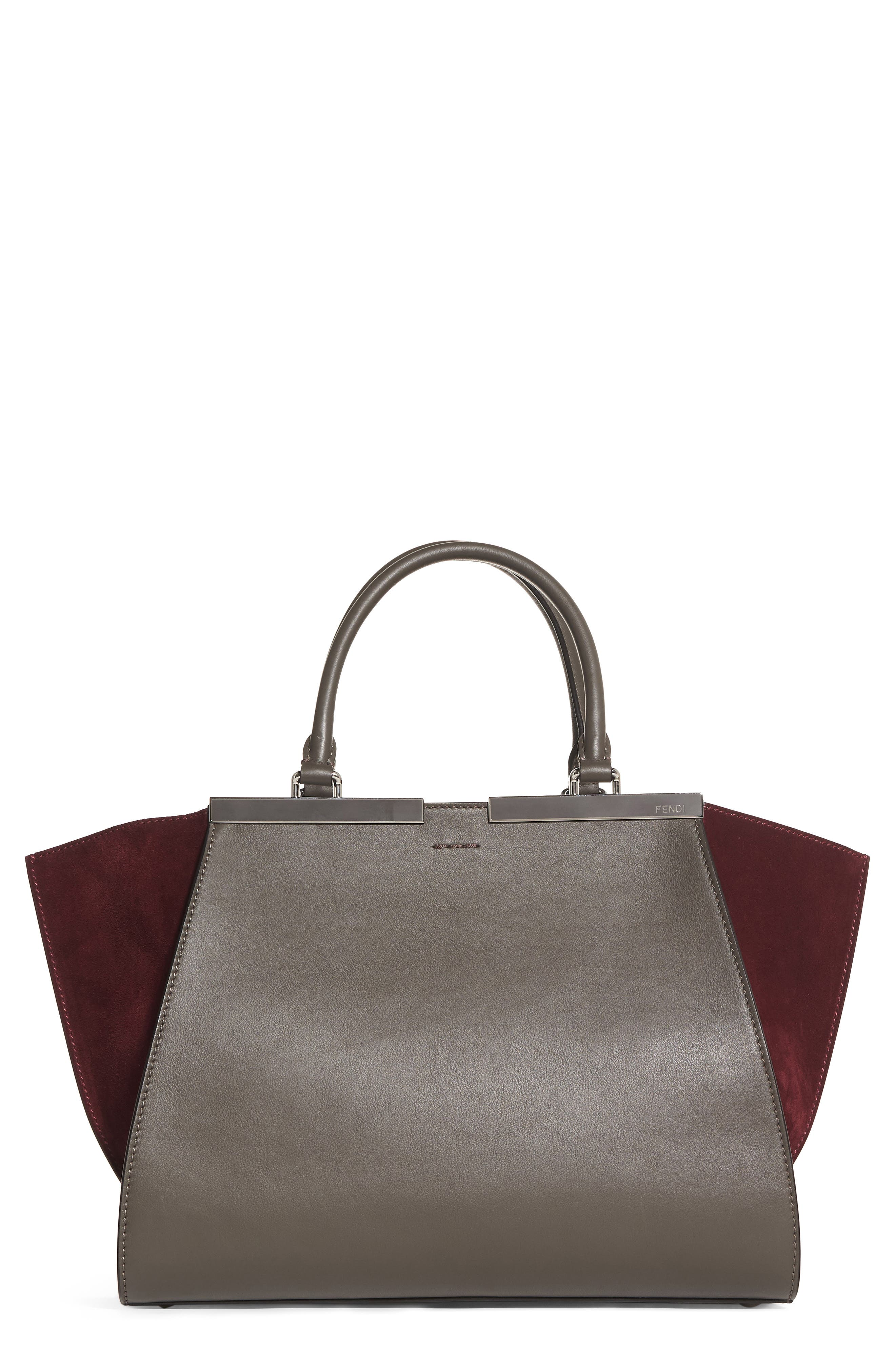 3Jours Baltico Leather & Suede Shopper,                             Main thumbnail 1, color,