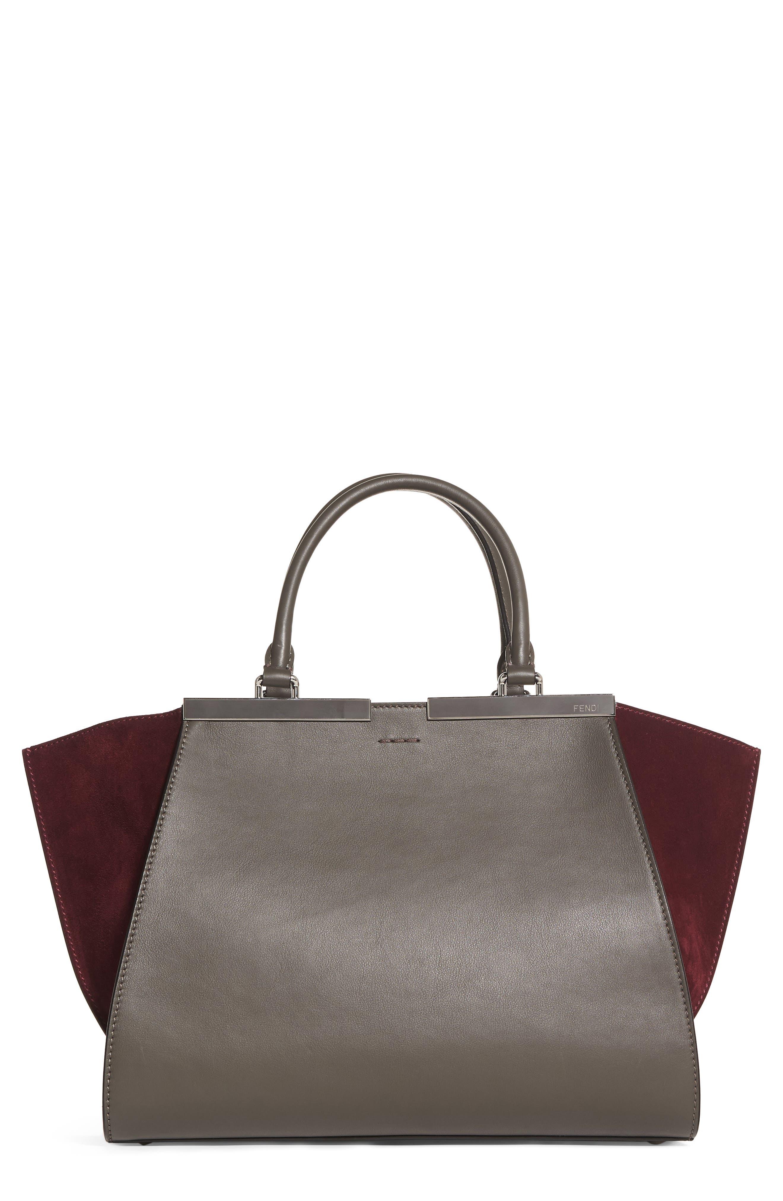 3Jours Baltico Leather & Suede Shopper,                         Main,                         color,