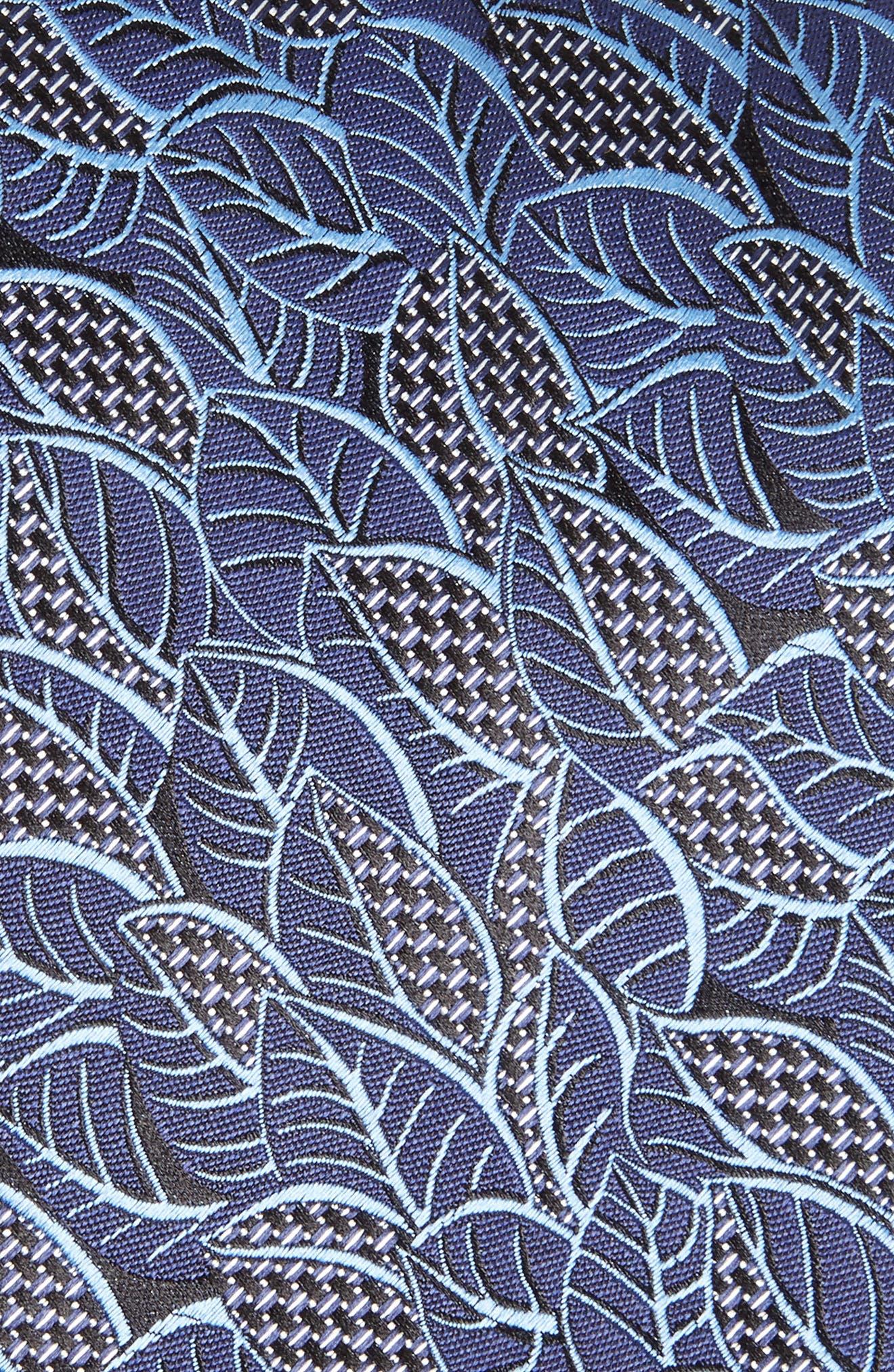 Leaf Silk Tie,                             Alternate thumbnail 2, color,                             BLUE