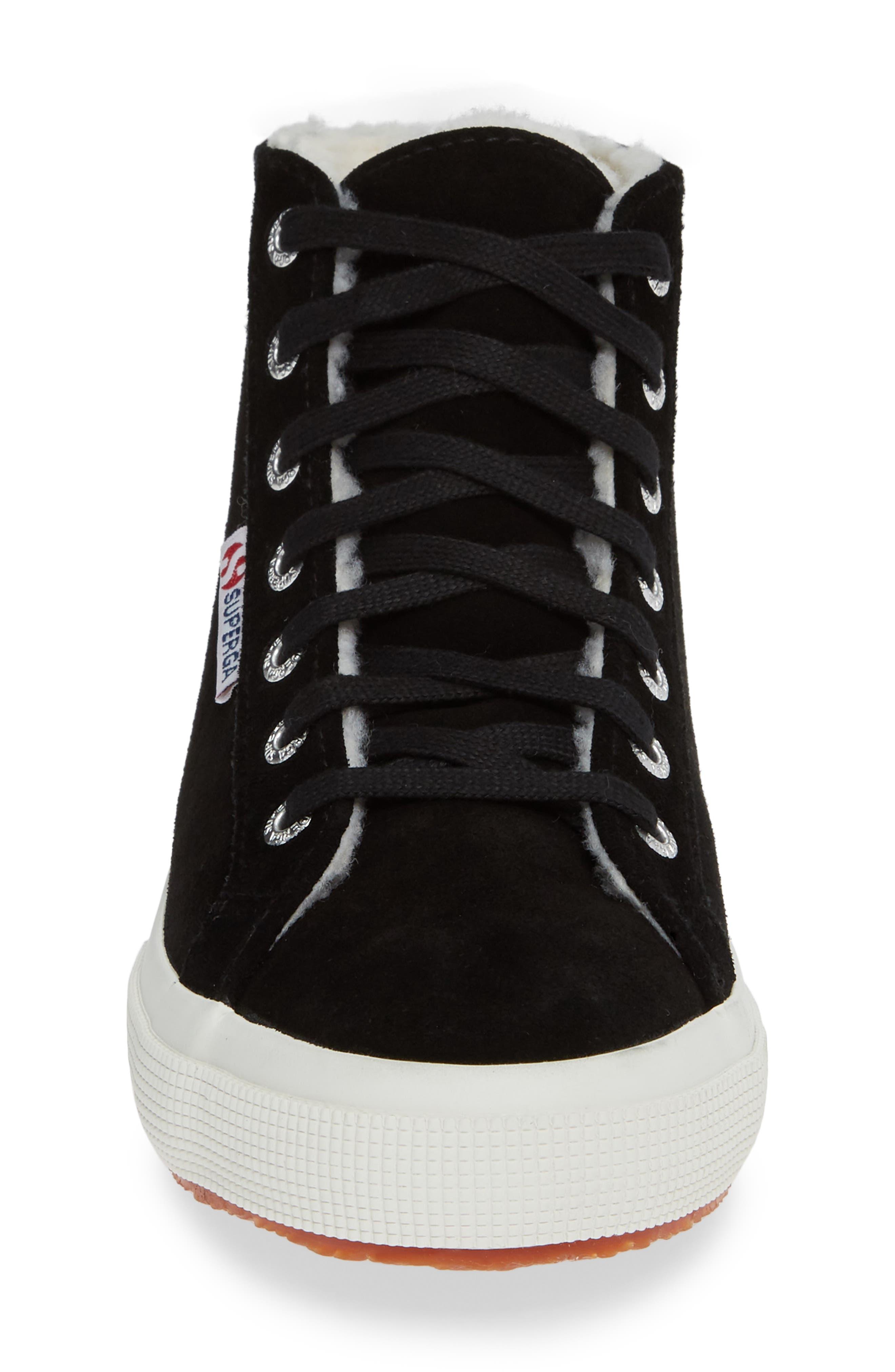 2795 Suefurw High Top Sneaker,                             Alternate thumbnail 4, color,                             BLACK SUEDE