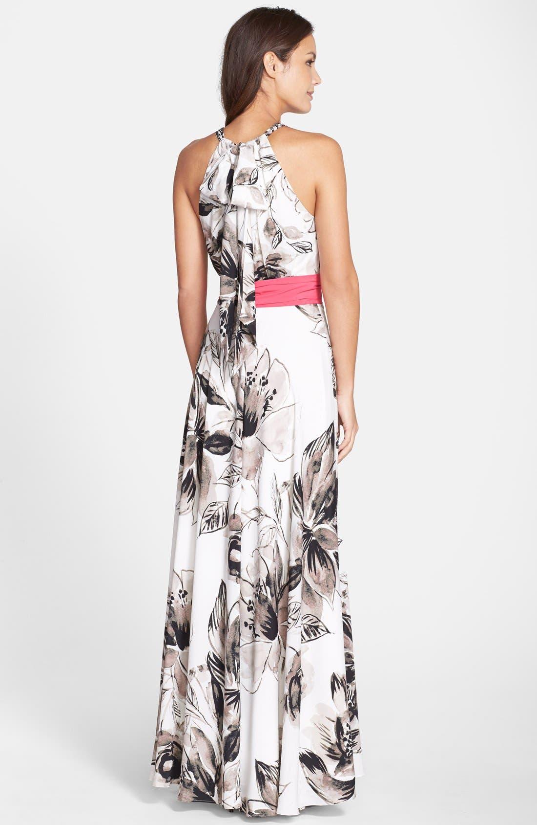 Chiffon Maxi Dress,                             Alternate thumbnail 8, color,                             011