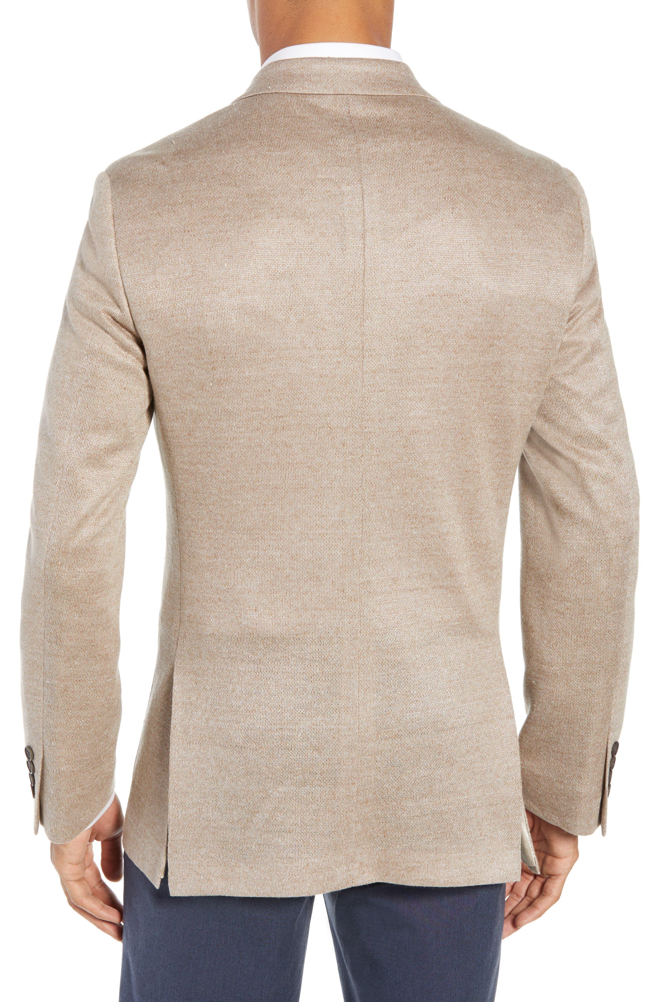 Trim Fit Linen Sport Coat,                             Alternate thumbnail 2, color,                             OATMEAL
