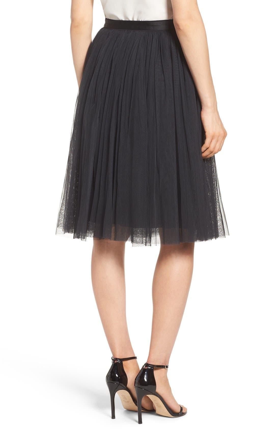 Tulle Skirt,                             Alternate thumbnail 3, color,                             001