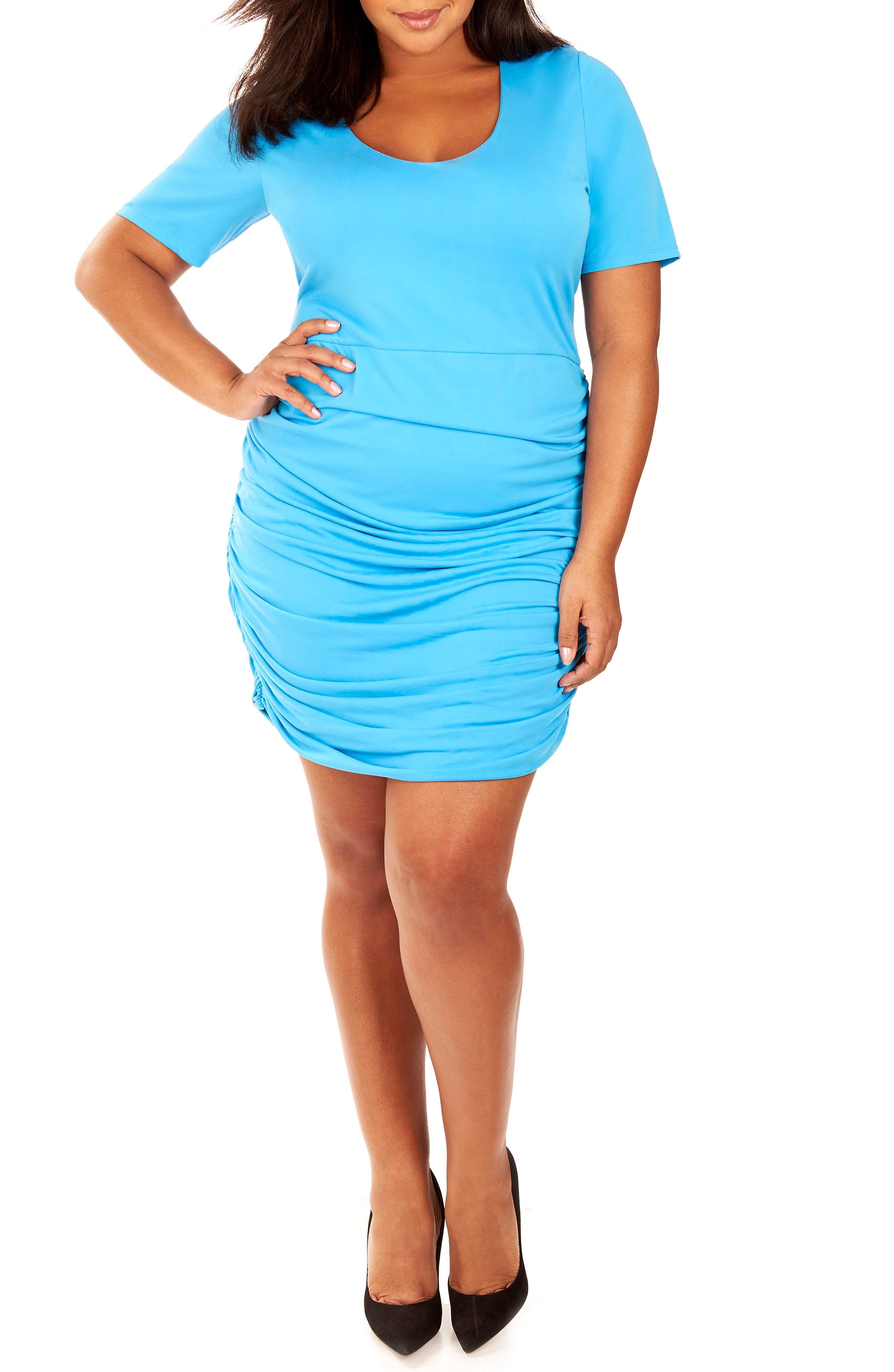 Ruched Sandwashed Jersey Dress,                             Main thumbnail 2, color,