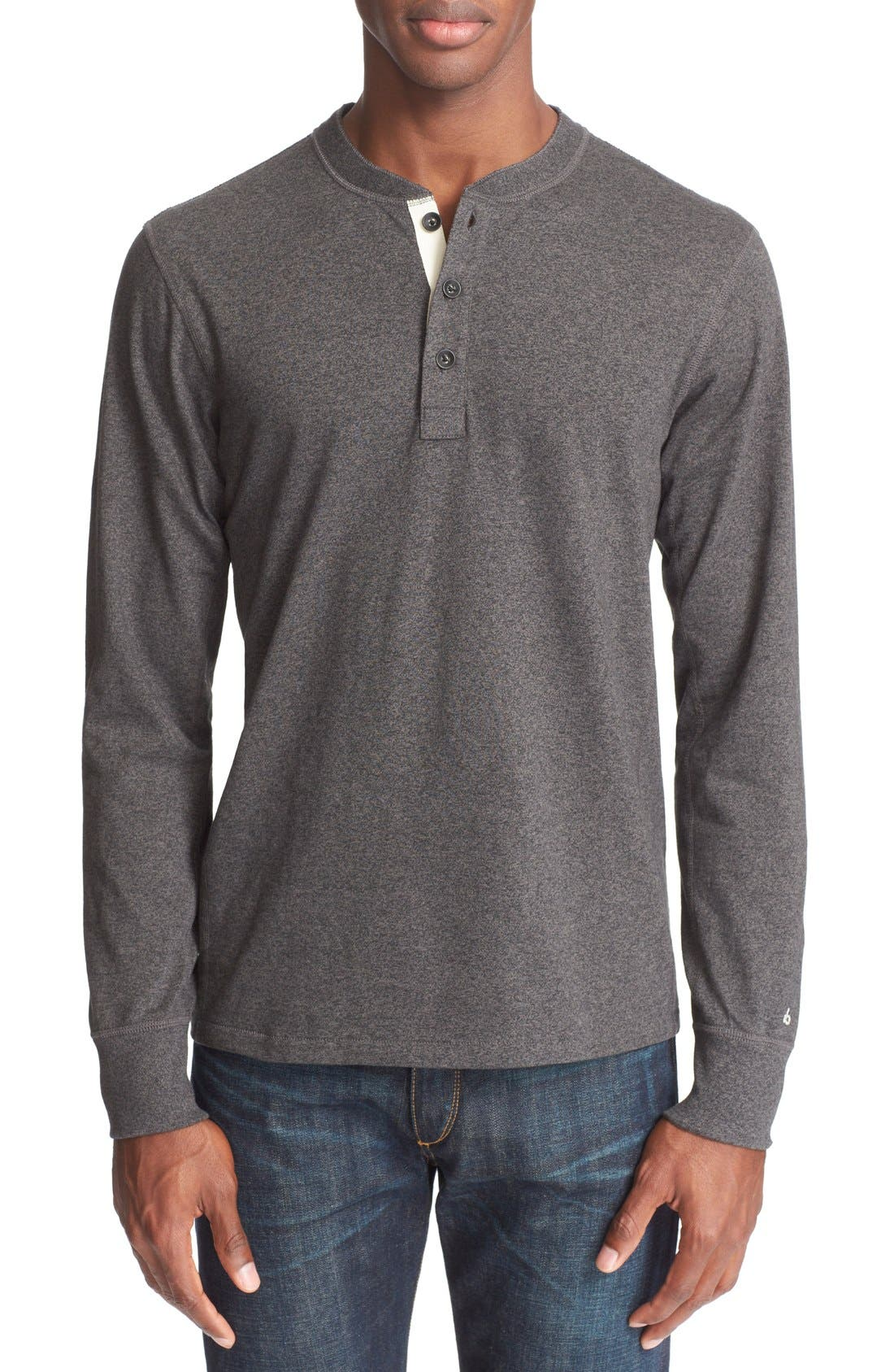 Standard Issue Henley,                         Main,                         color, PEWTER