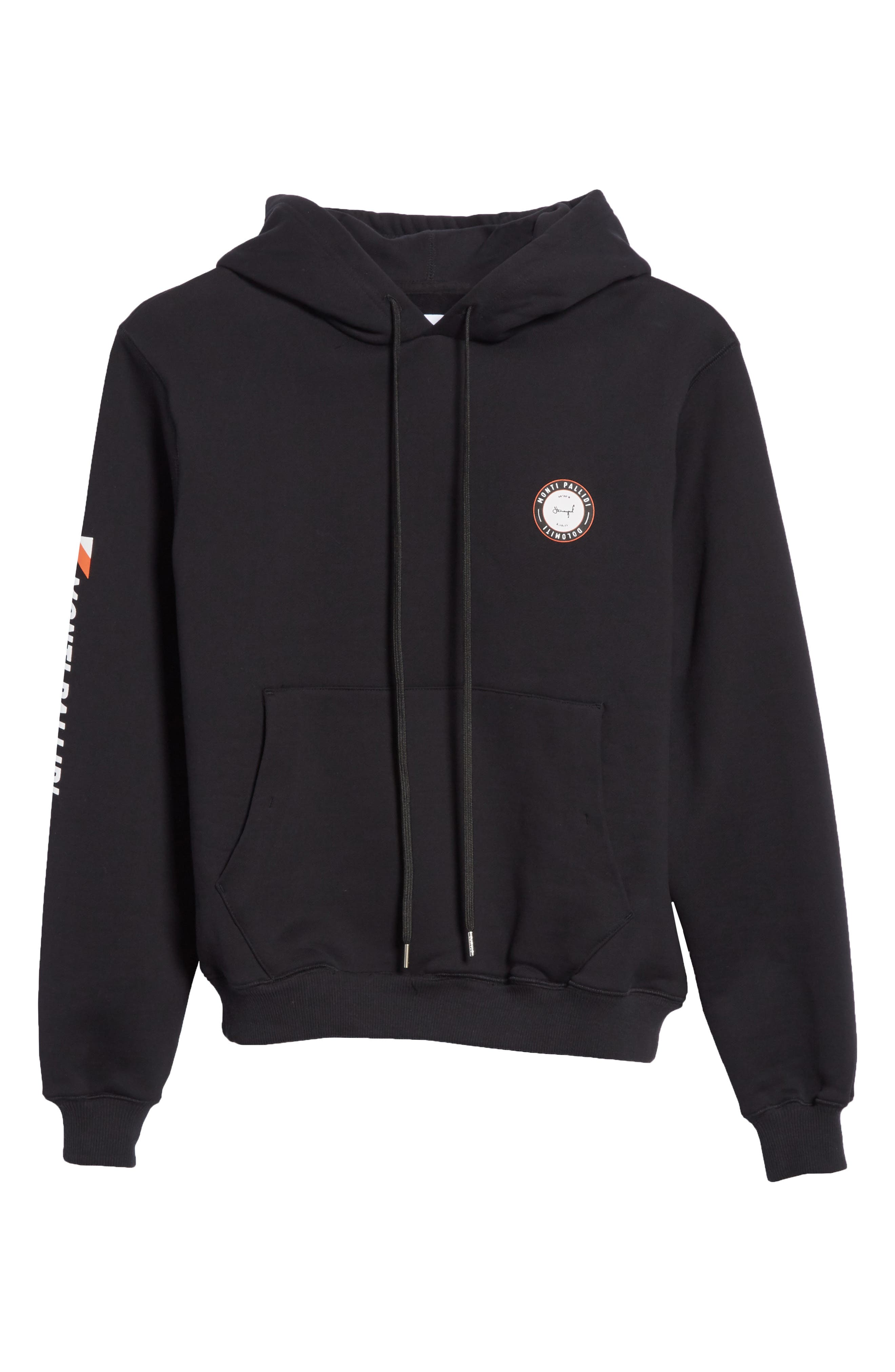 Monti Pallidi Graphic Hoodie,                             Alternate thumbnail 6, color,                             001