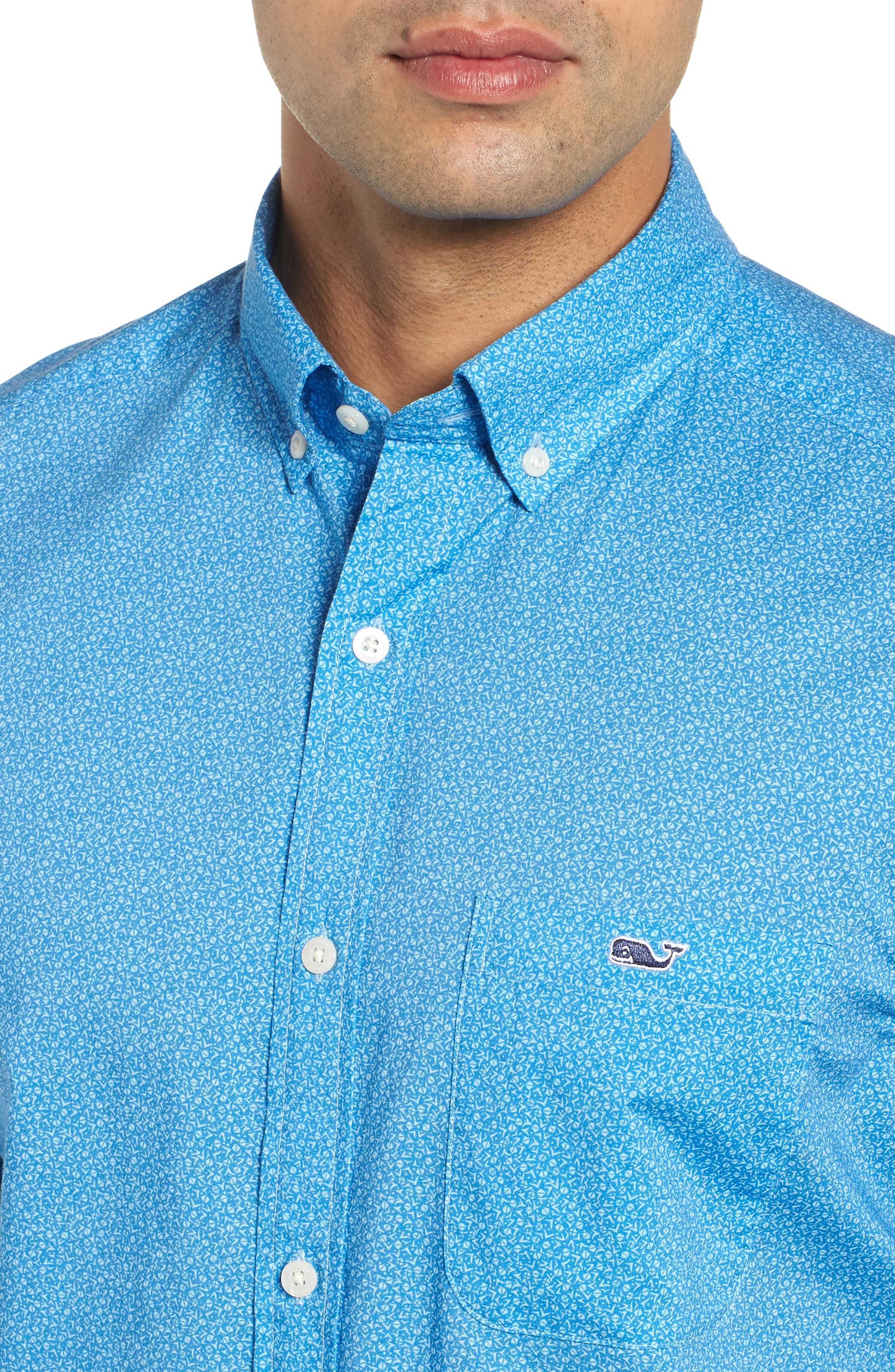 Seagulls Tucker Slim Fit Sport Shirt,                             Alternate thumbnail 4, color,                             400