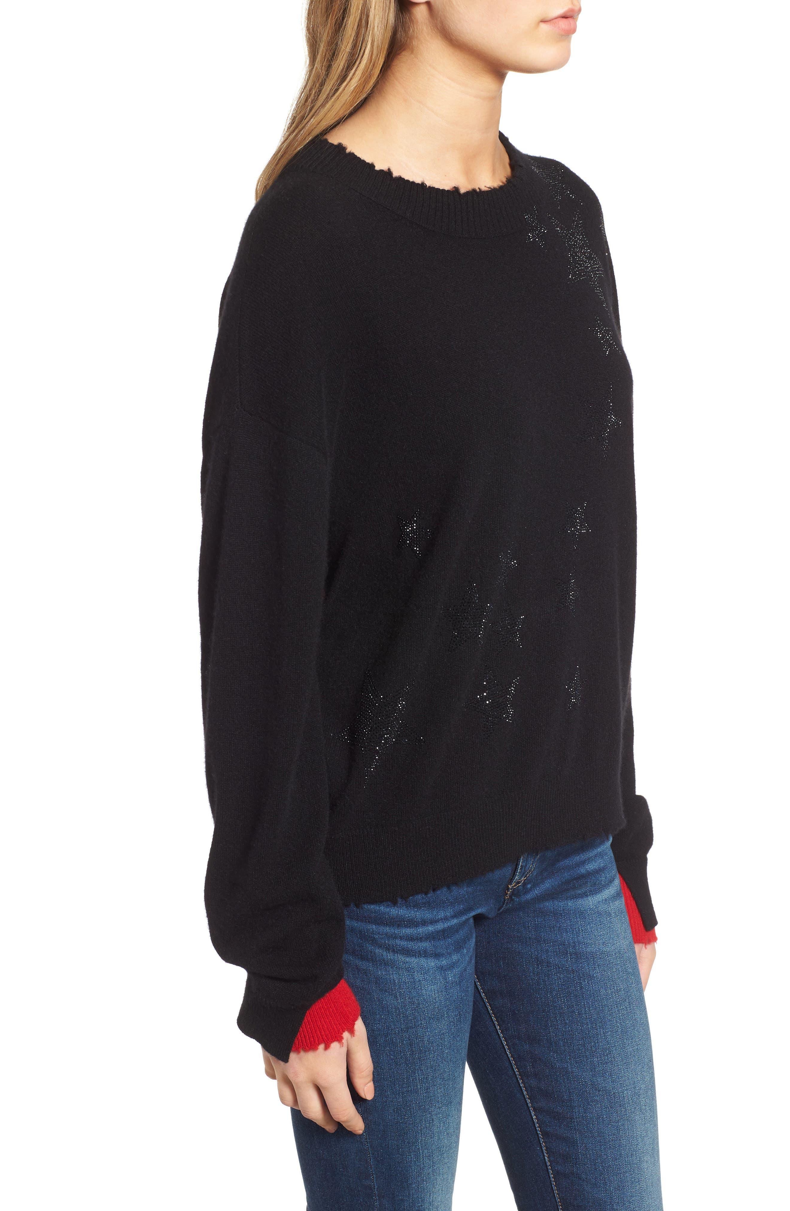 Gaby Cashmere Sweater,                             Alternate thumbnail 3, color,                             NOIR