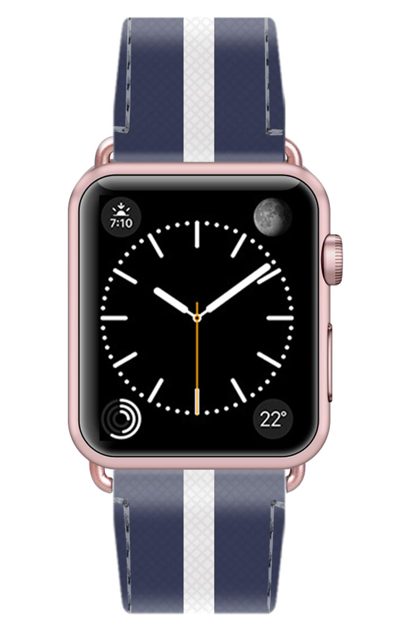 Saffiano Faux Leather Apple Watch Strap,                             Alternate thumbnail 30, color,