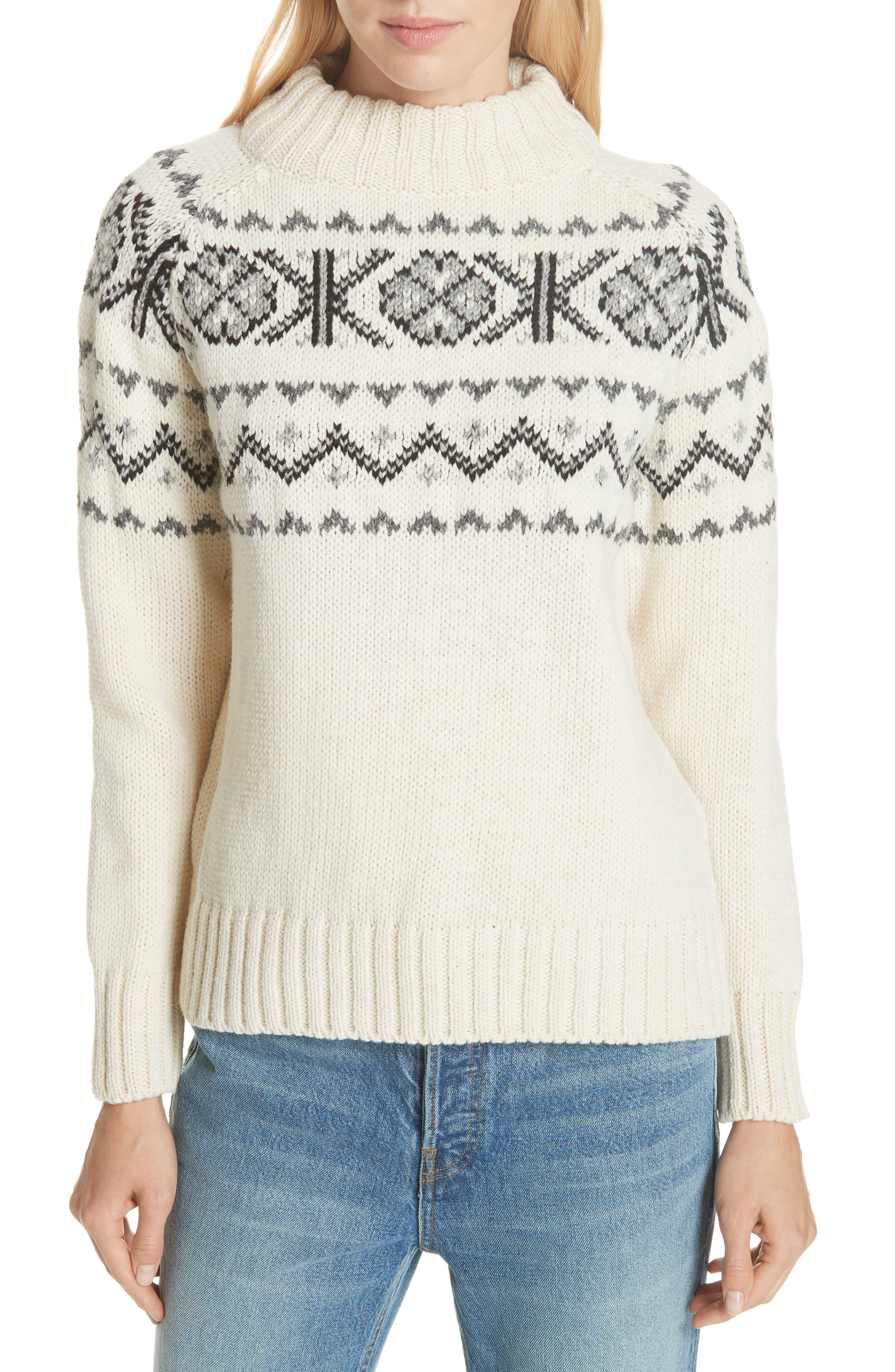 & daughter Malin Fair Isle Wool Sweater