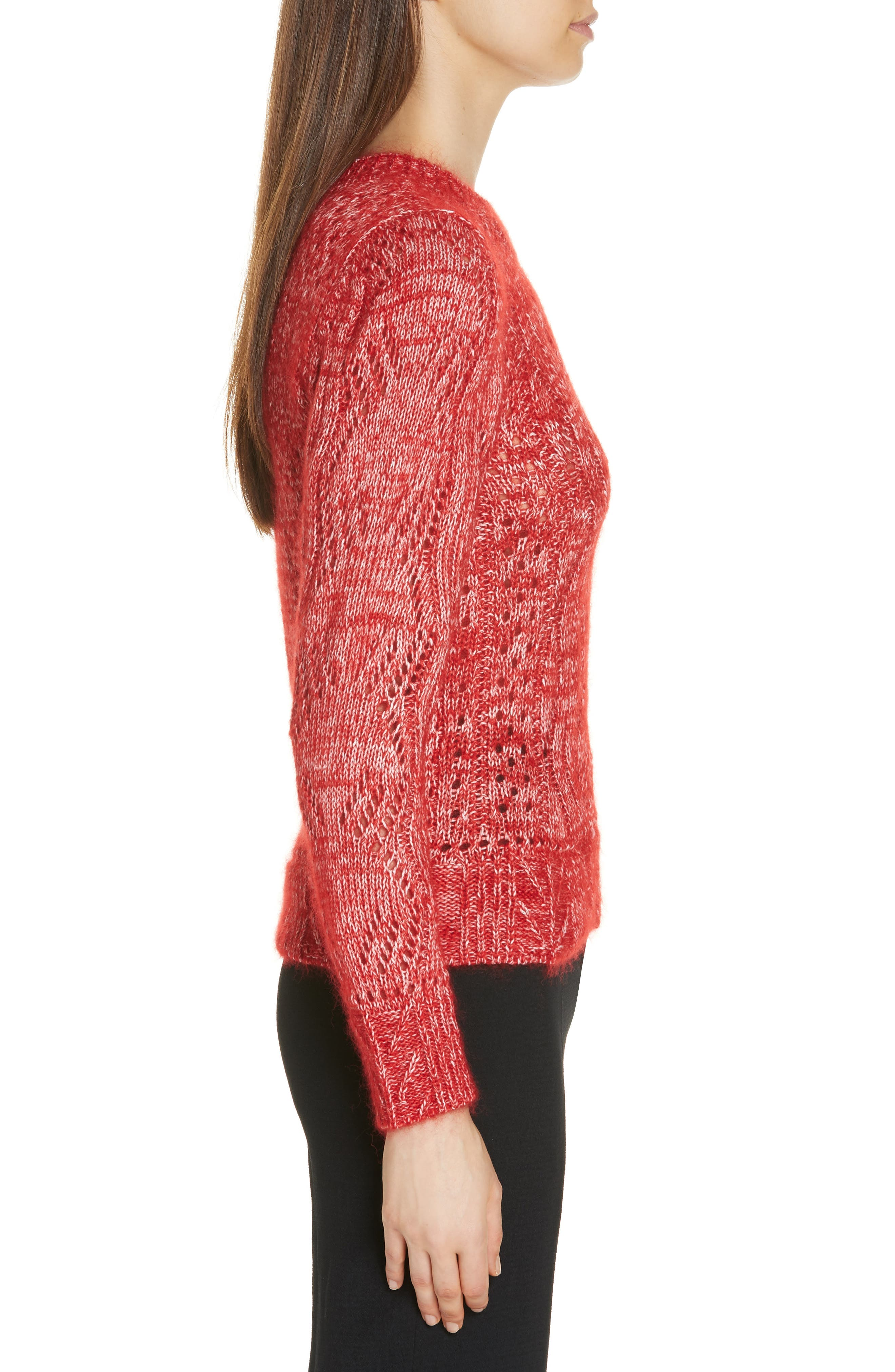Numa Cotton & Silk Blend Sweater,                             Alternate thumbnail 3, color,                             600