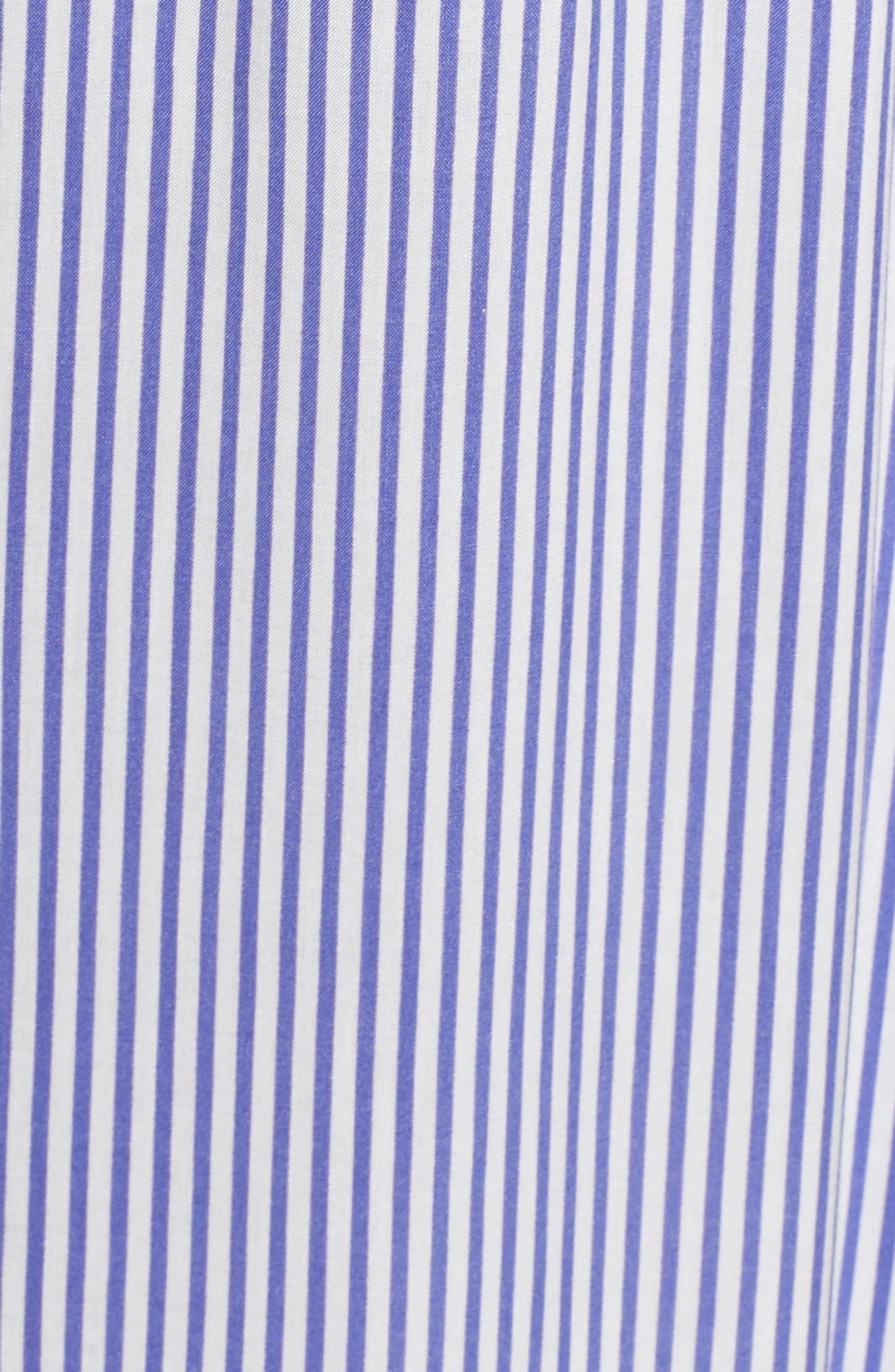 Stripe Cold Shoulder Maxi Dress,                             Alternate thumbnail 6, color,                             400