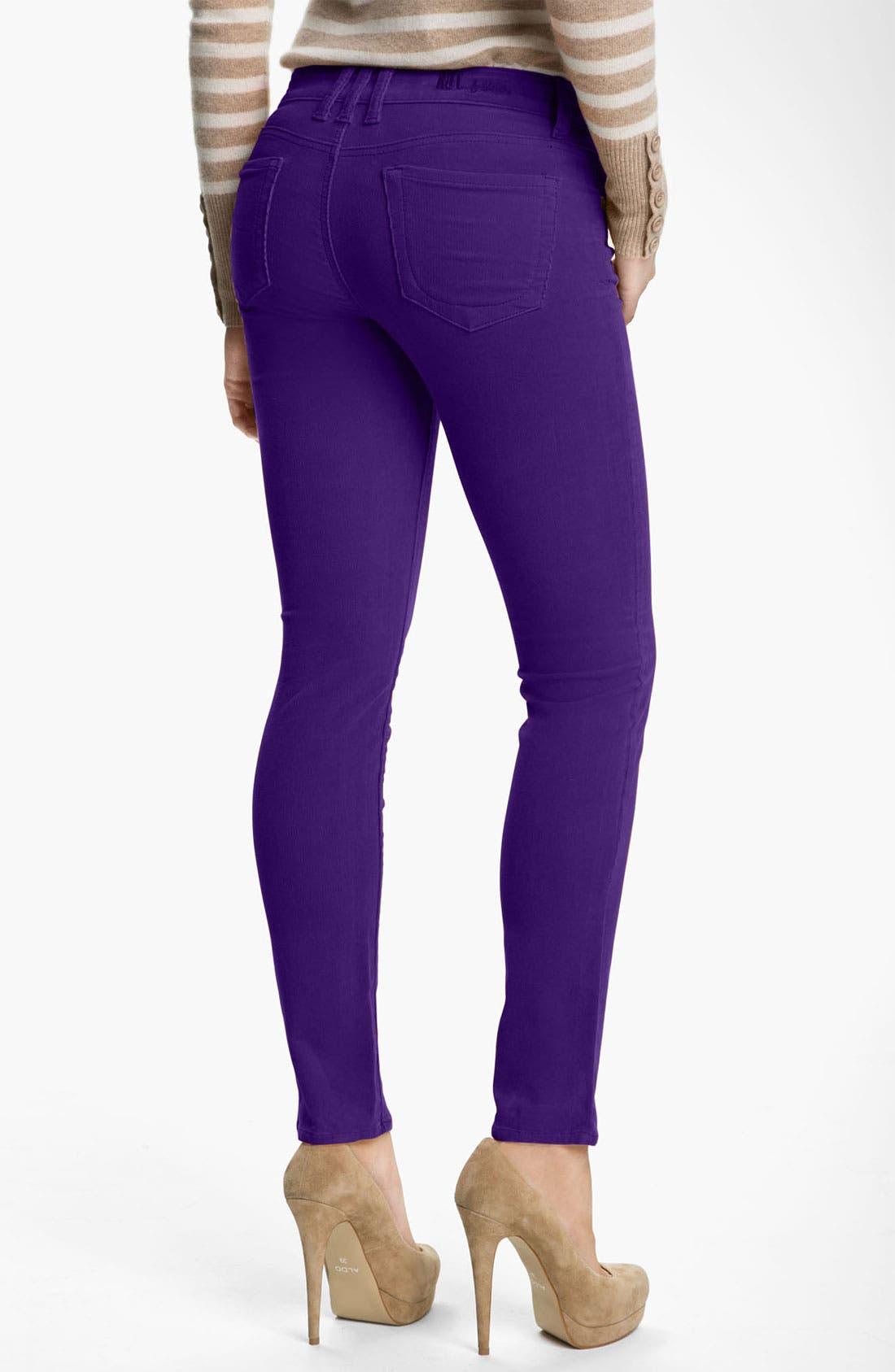 'Diana' Stretch Corduroy Skinny Pants,                             Alternate thumbnail 92, color,