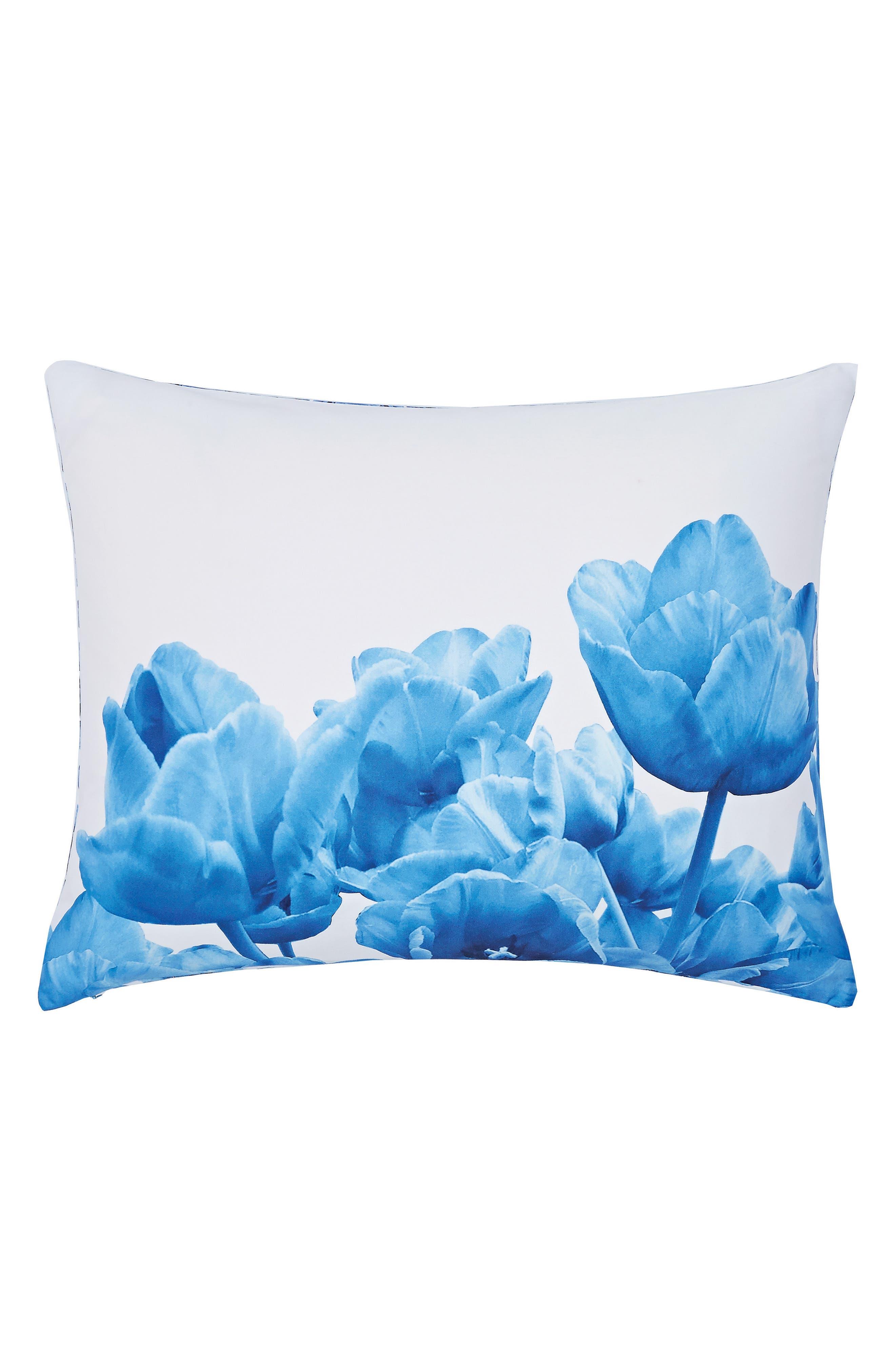 Blue Beauty Comforter & Sham Set,                             Alternate thumbnail 5, color,                             400