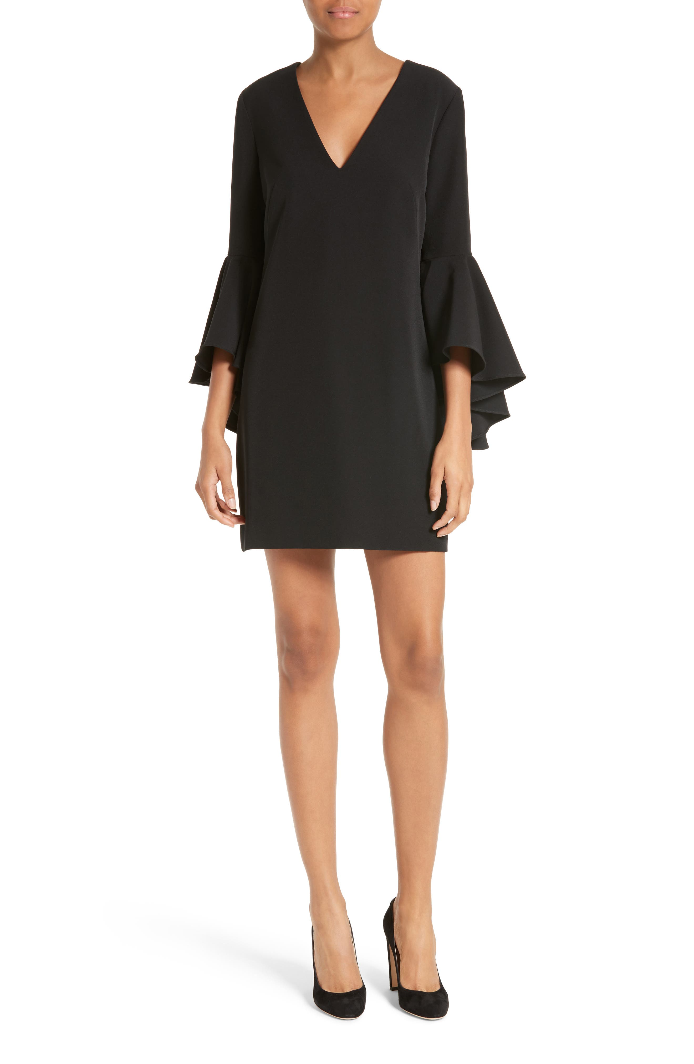 Nicole Bell Sleeve Dress,                             Main thumbnail 3, color,
