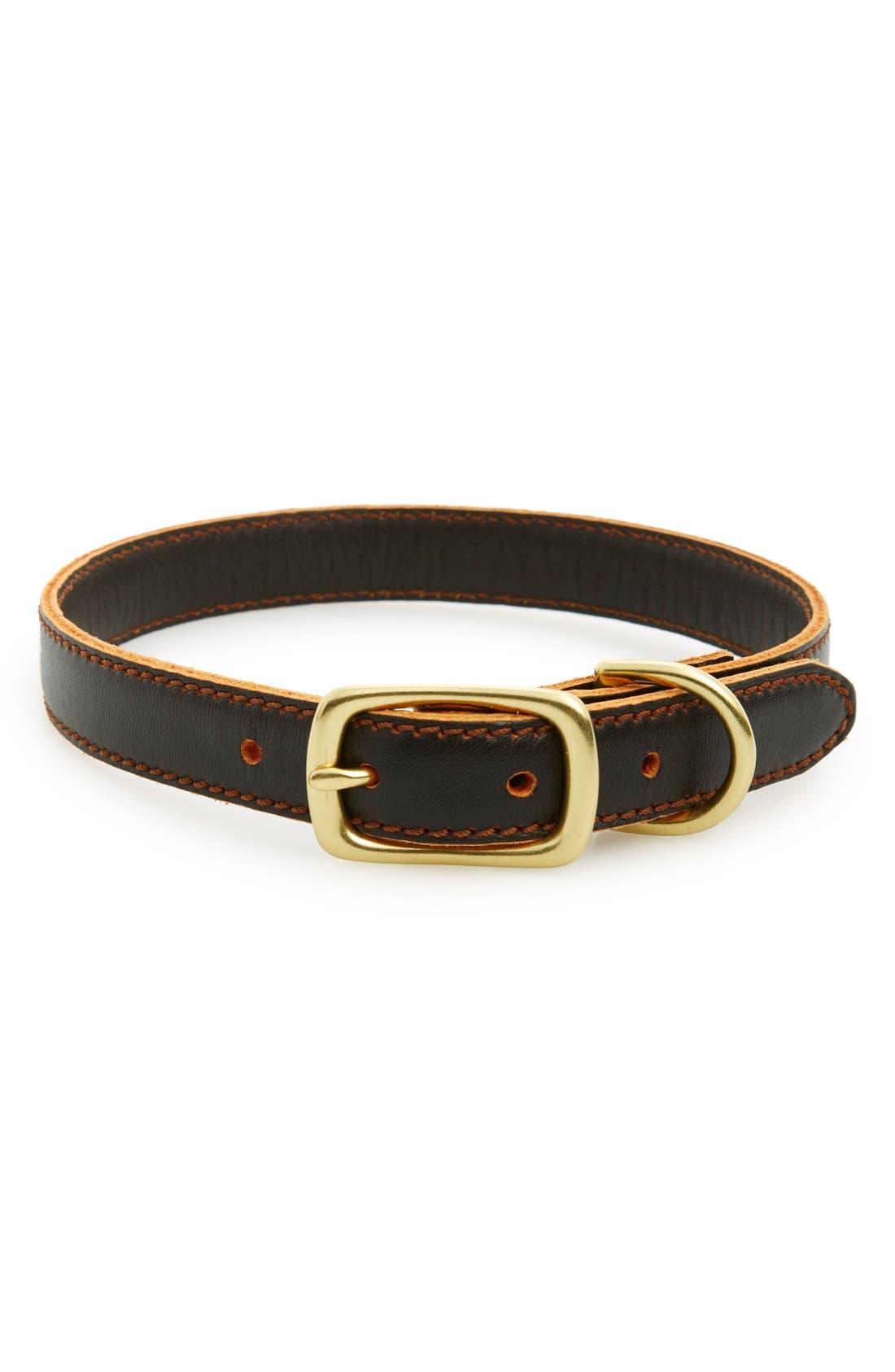 Leather Dog Collar,                             Main thumbnail 1, color,                             200