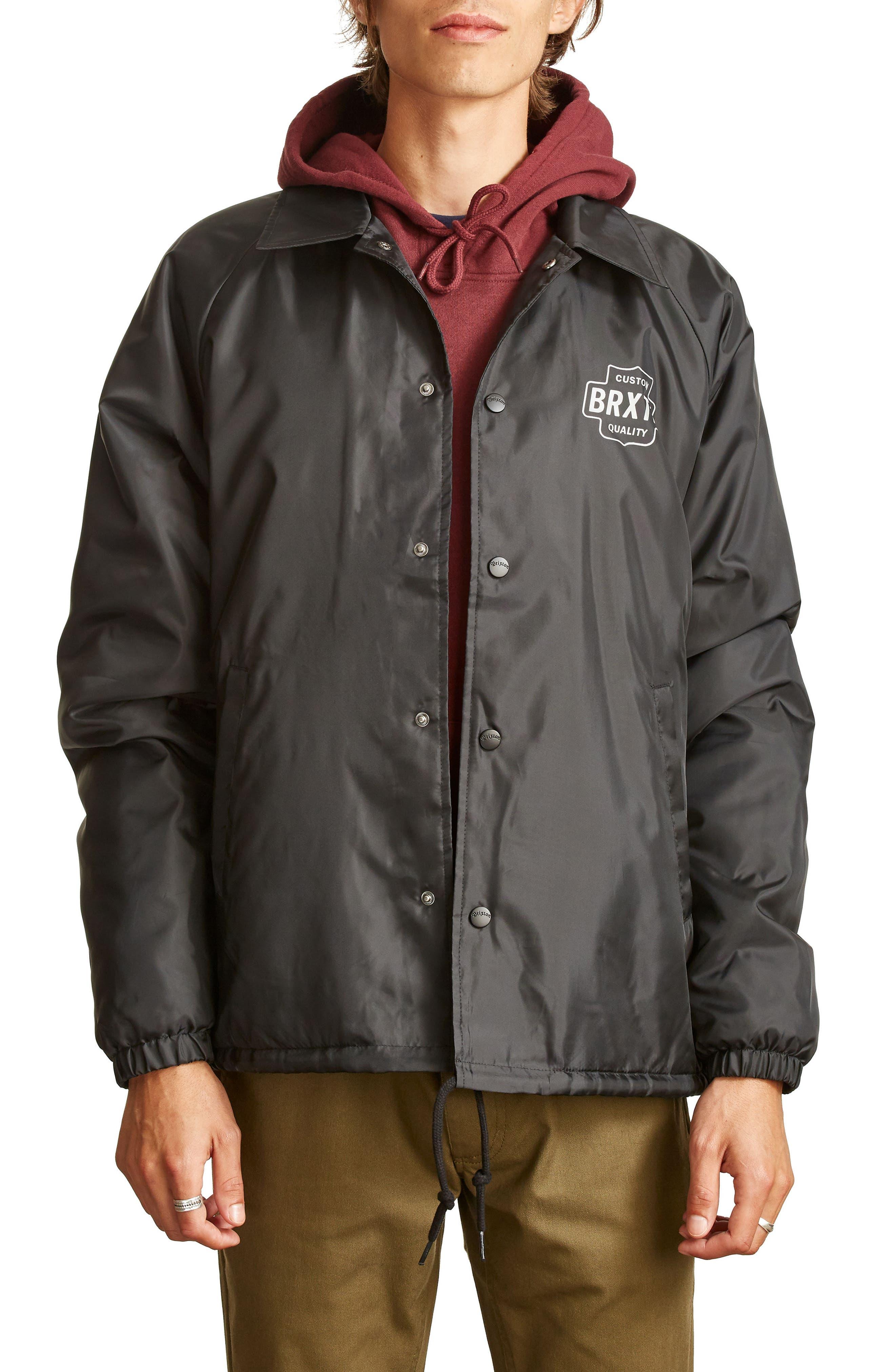 Garth Water Resistant Coach's Jacket,                             Main thumbnail 1, color,                             005
