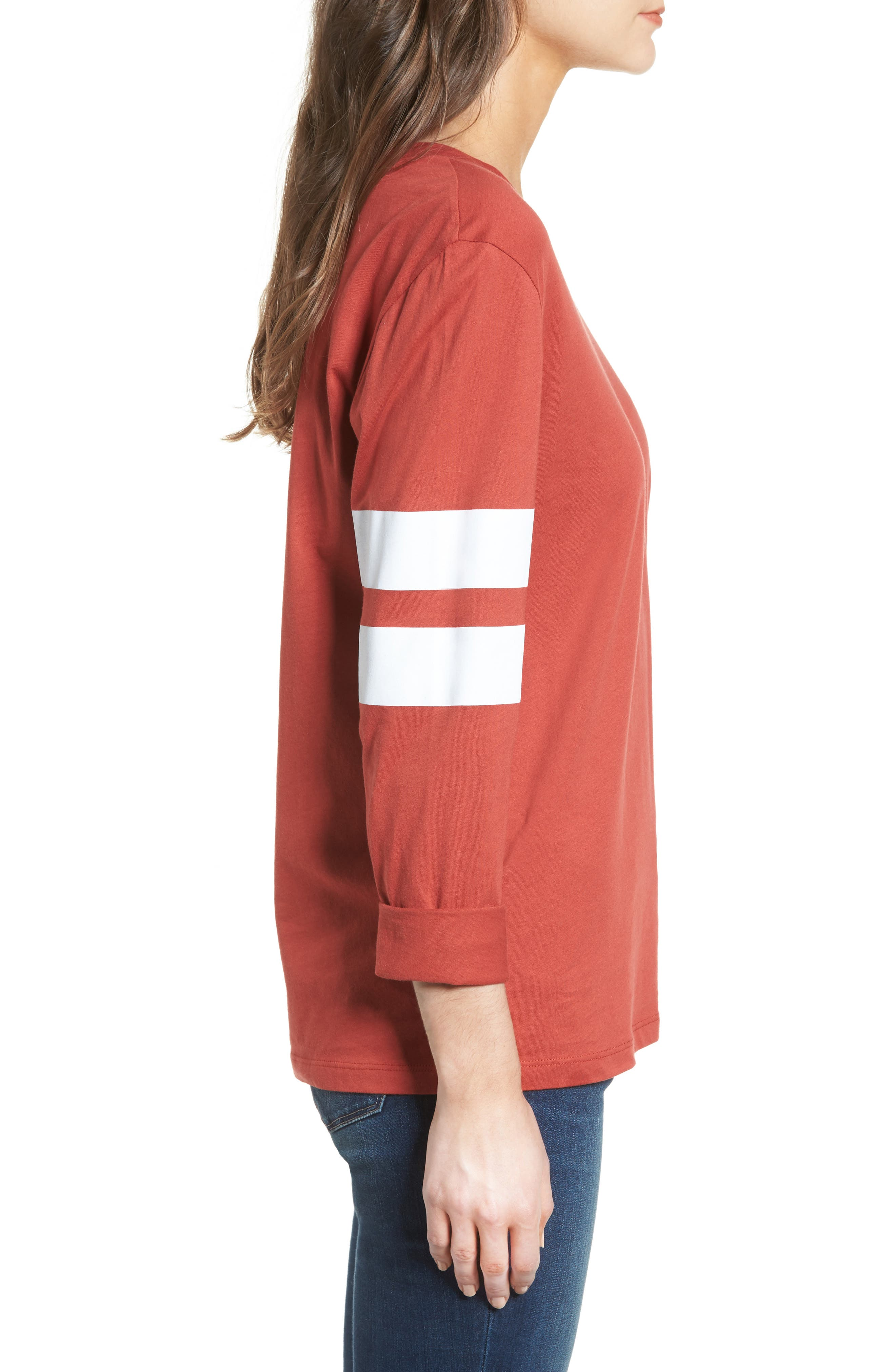Varsity Stripe Cotton Tee,                             Alternate thumbnail 51, color,