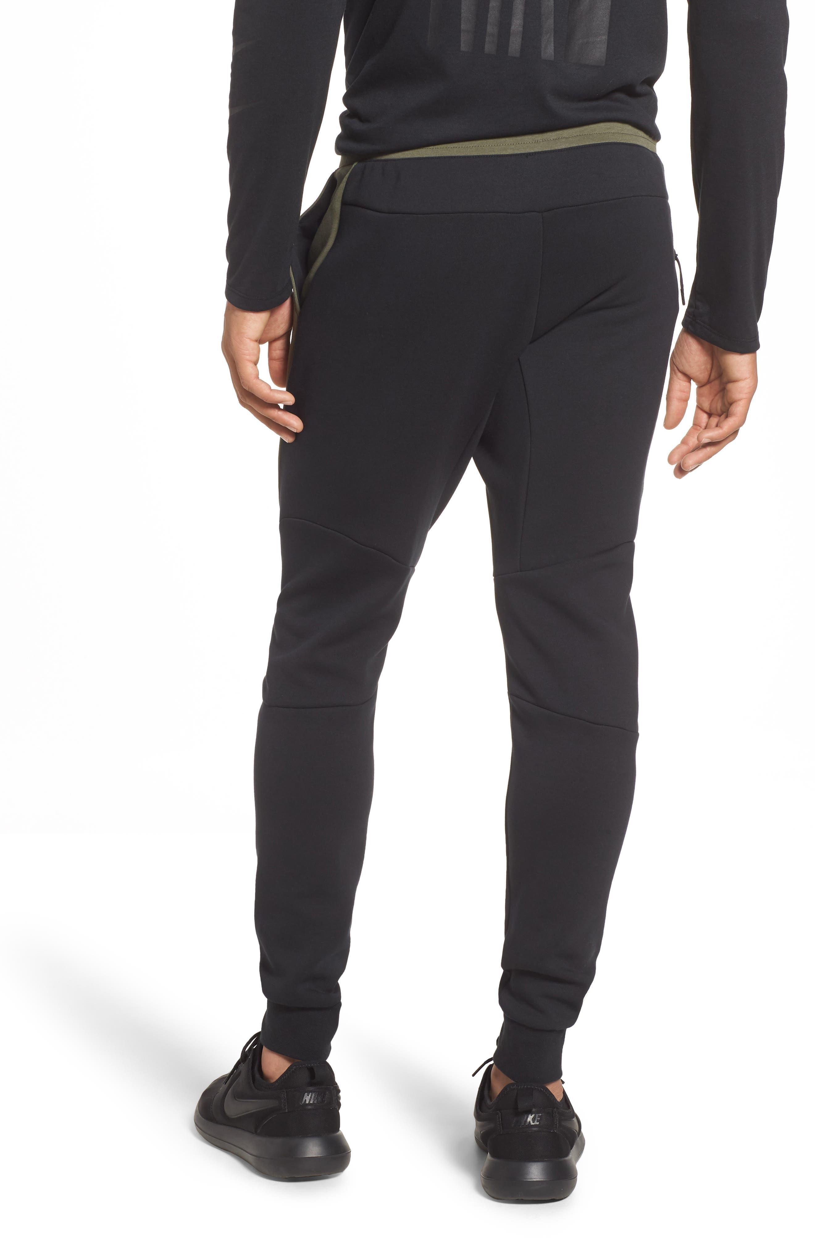 Tech Fleece Jogger Pants,                             Alternate thumbnail 2, color,                             BLACK/ TWILIGHT MARSH/ BLACK