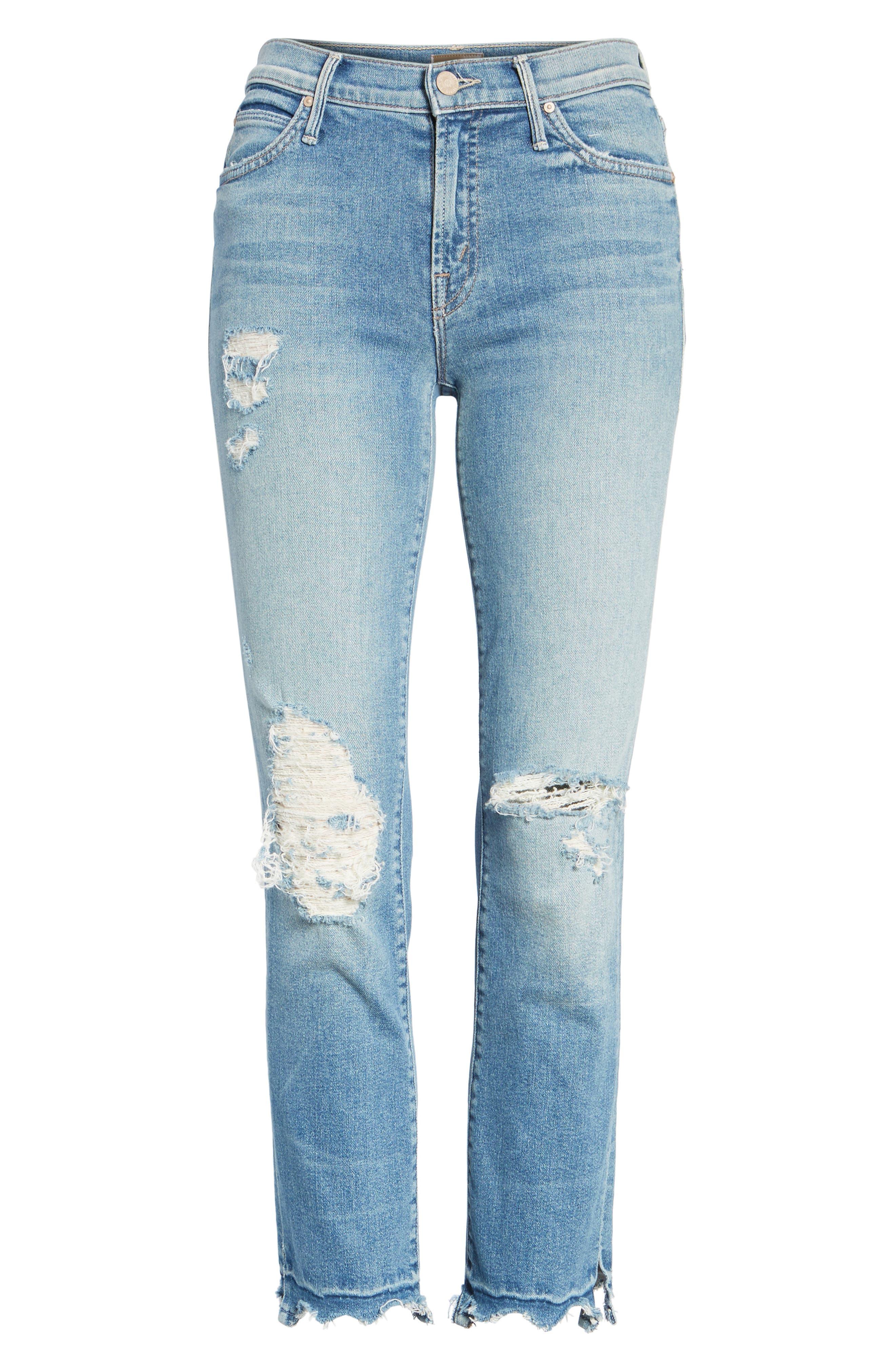 The Rascal High Waist Ankle Jeans,                             Alternate thumbnail 6, color,                             415