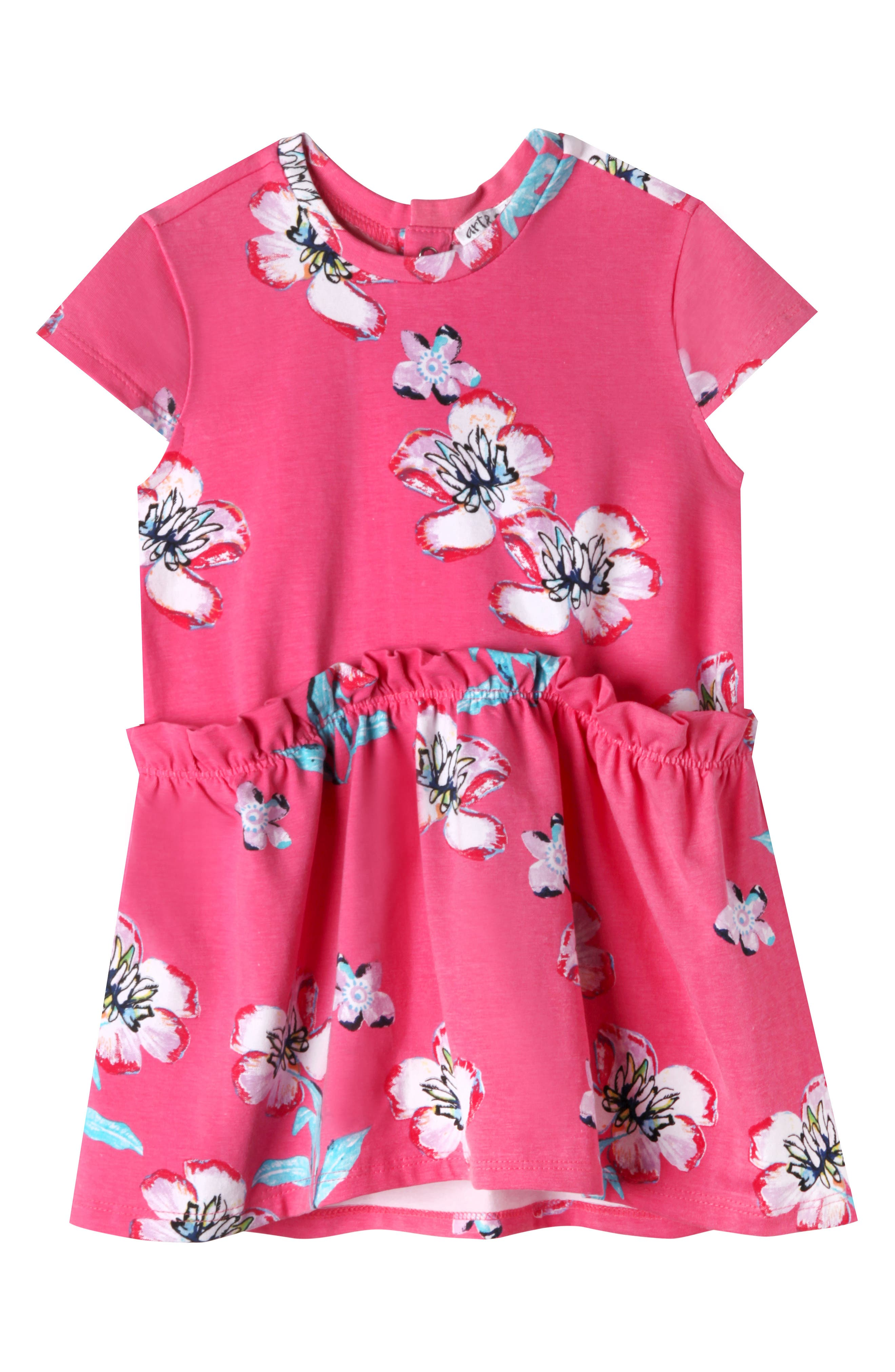 Keira Plumeria Dress,                         Main,                         color, PINK PLUMERIA