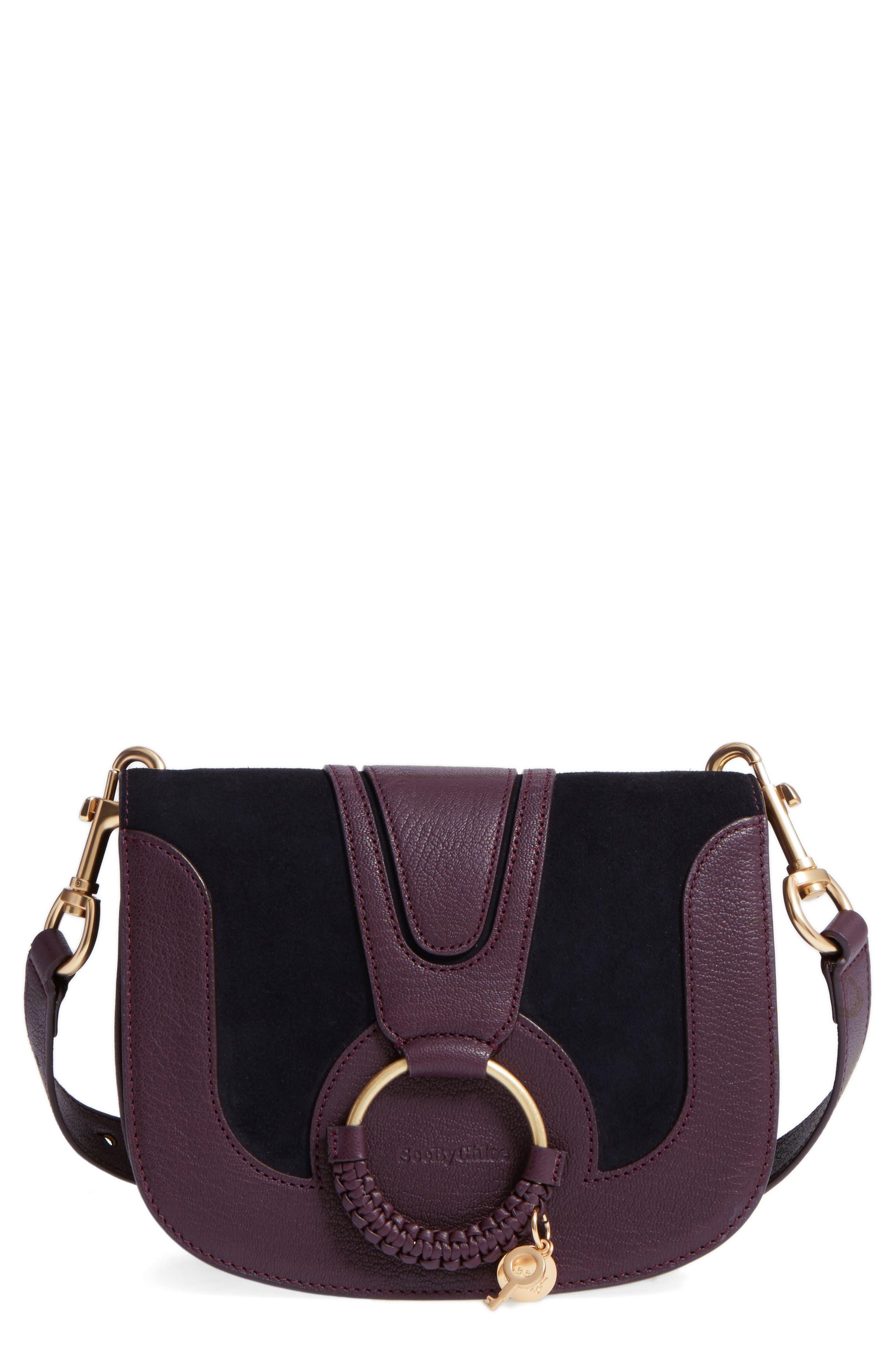 Hana Small Leather Crossbody Bag,                             Main thumbnail 6, color,