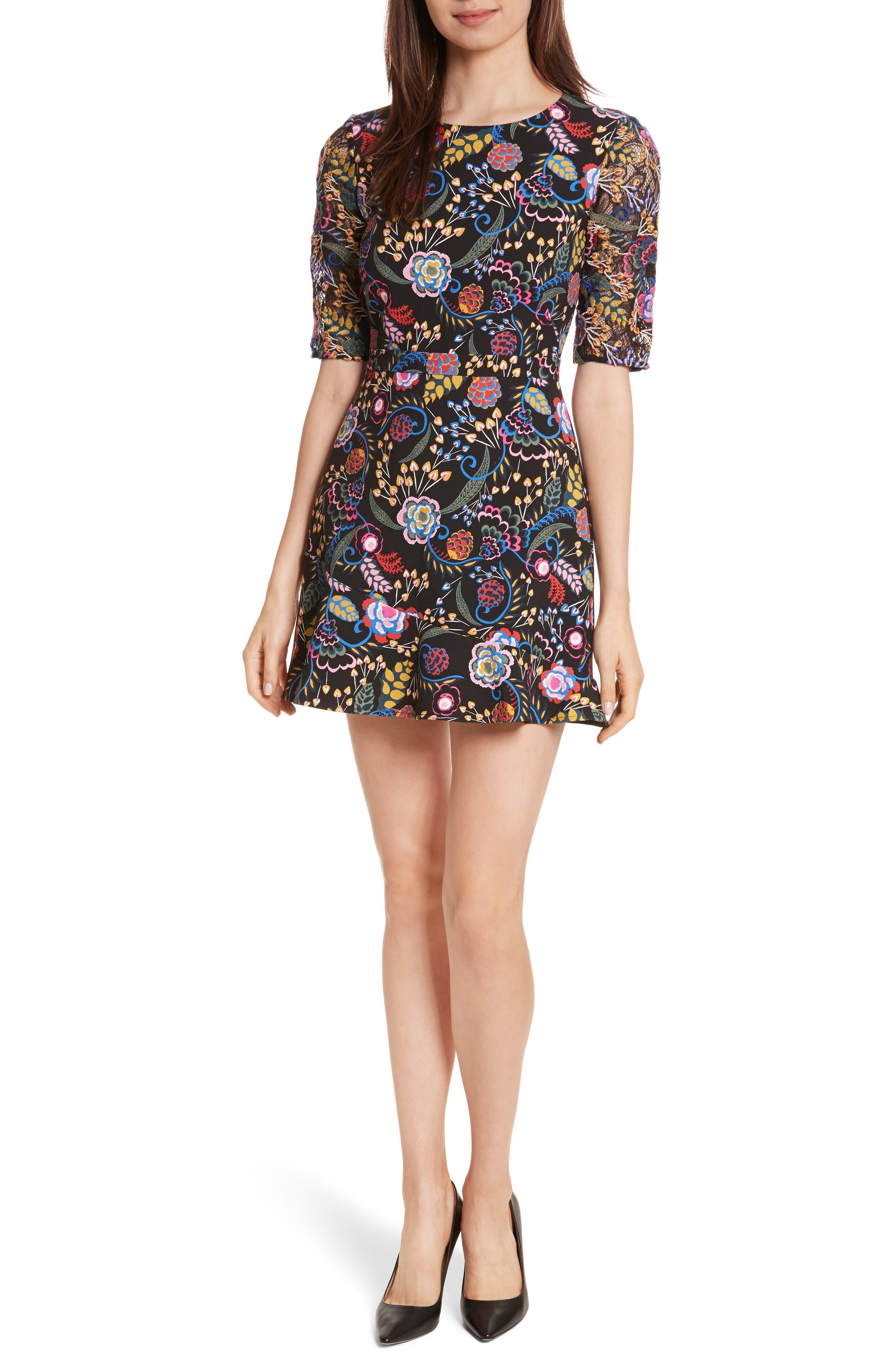Celia Floral Print Dress,                             Main thumbnail 1, color,                             005