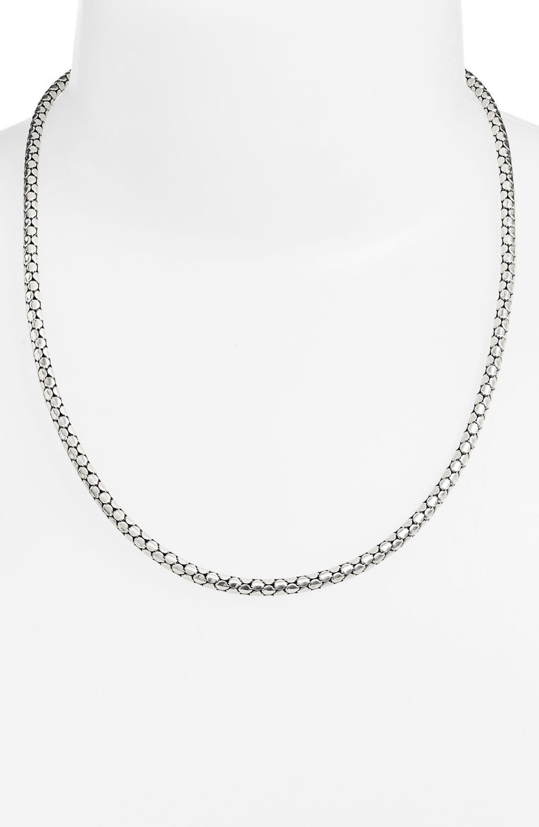Dot Chain Necklace,                             Alternate thumbnail 2, color,                             SILVER
