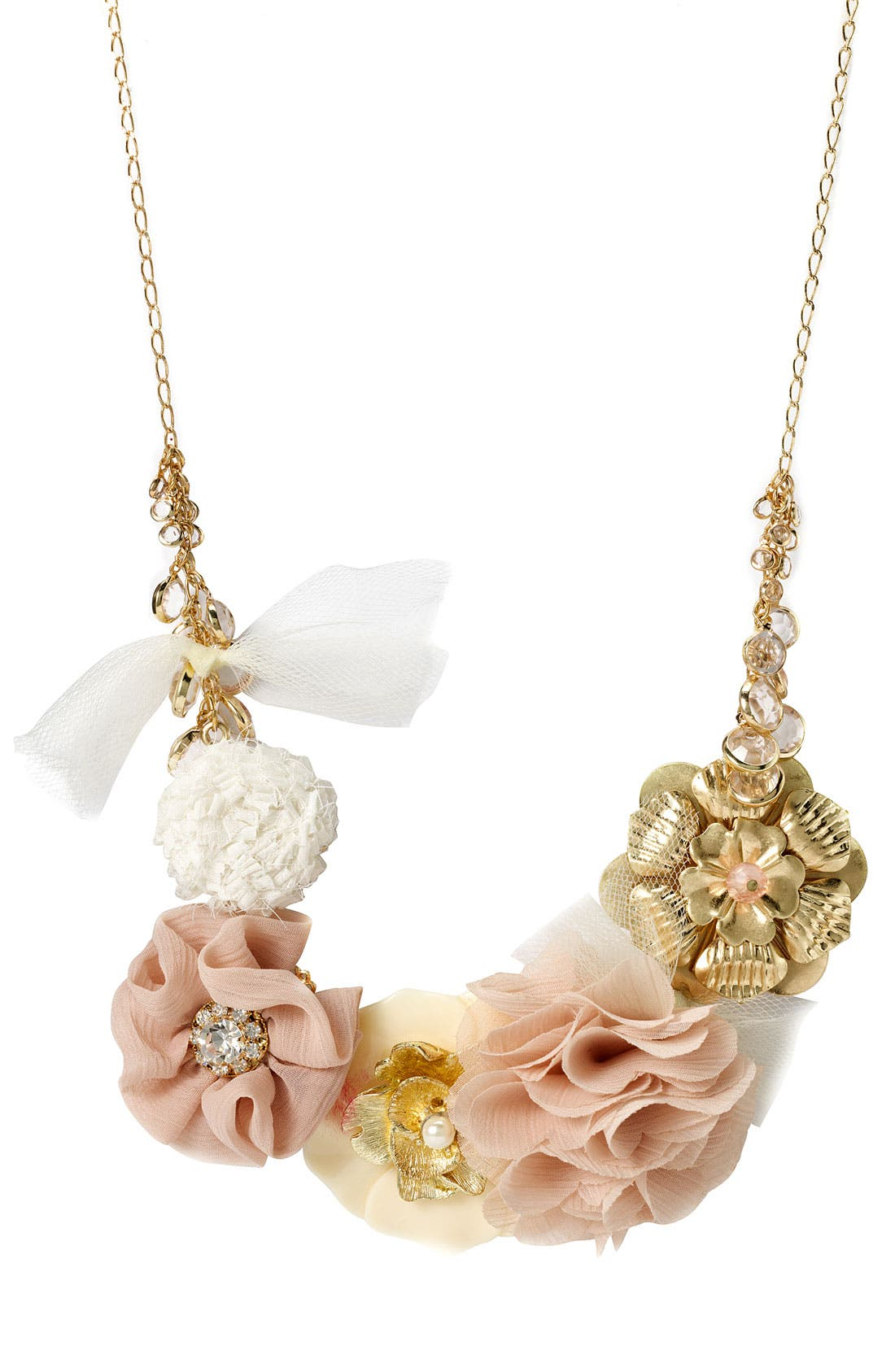 TASHA,                             Flower Statement Necklace,                             Main thumbnail 1, color,                             220