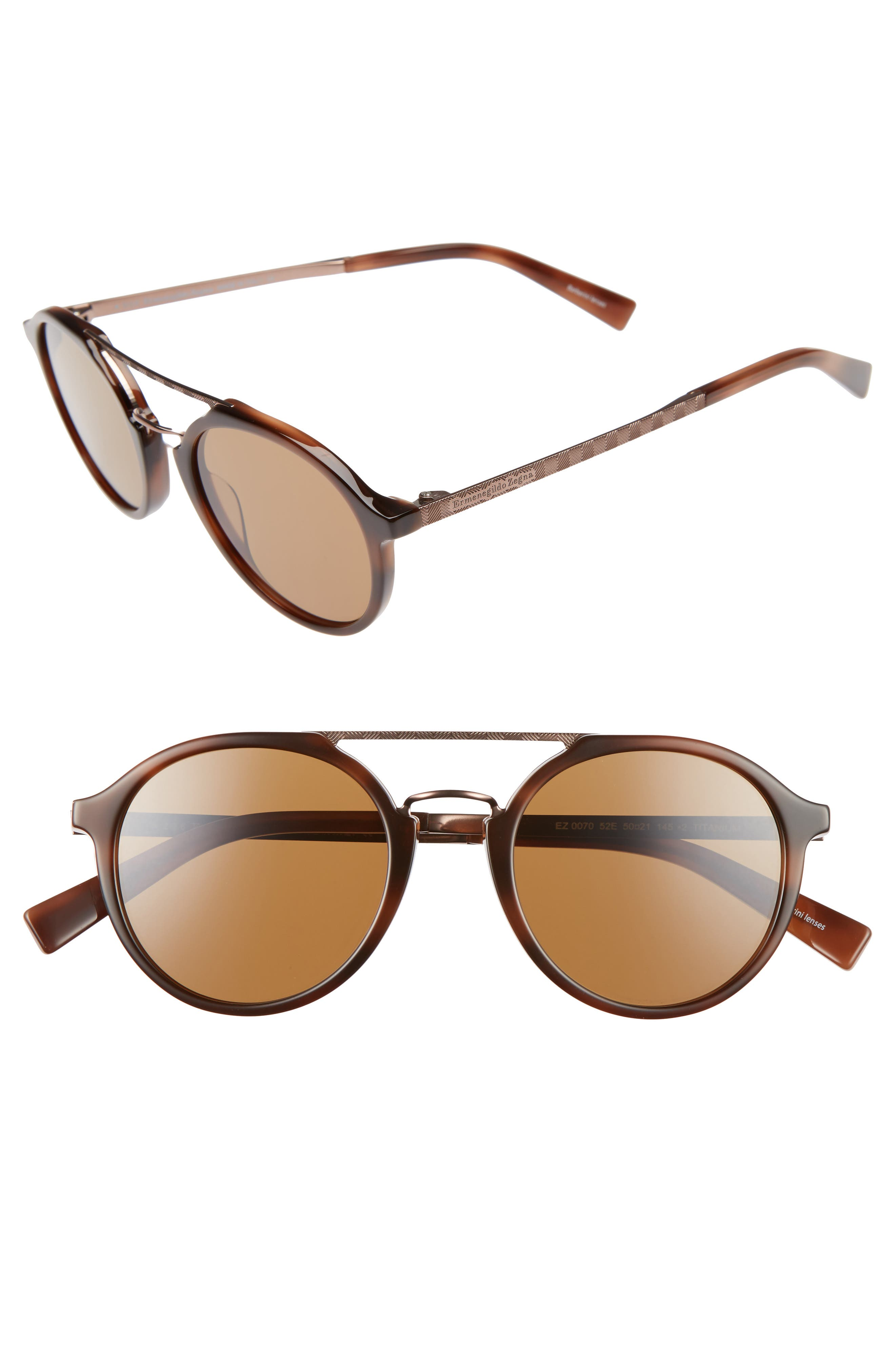 Retro 50mm Sunglasses,                         Main,                         color, HAVANA/ LIGHT BRONZE/ BROWN