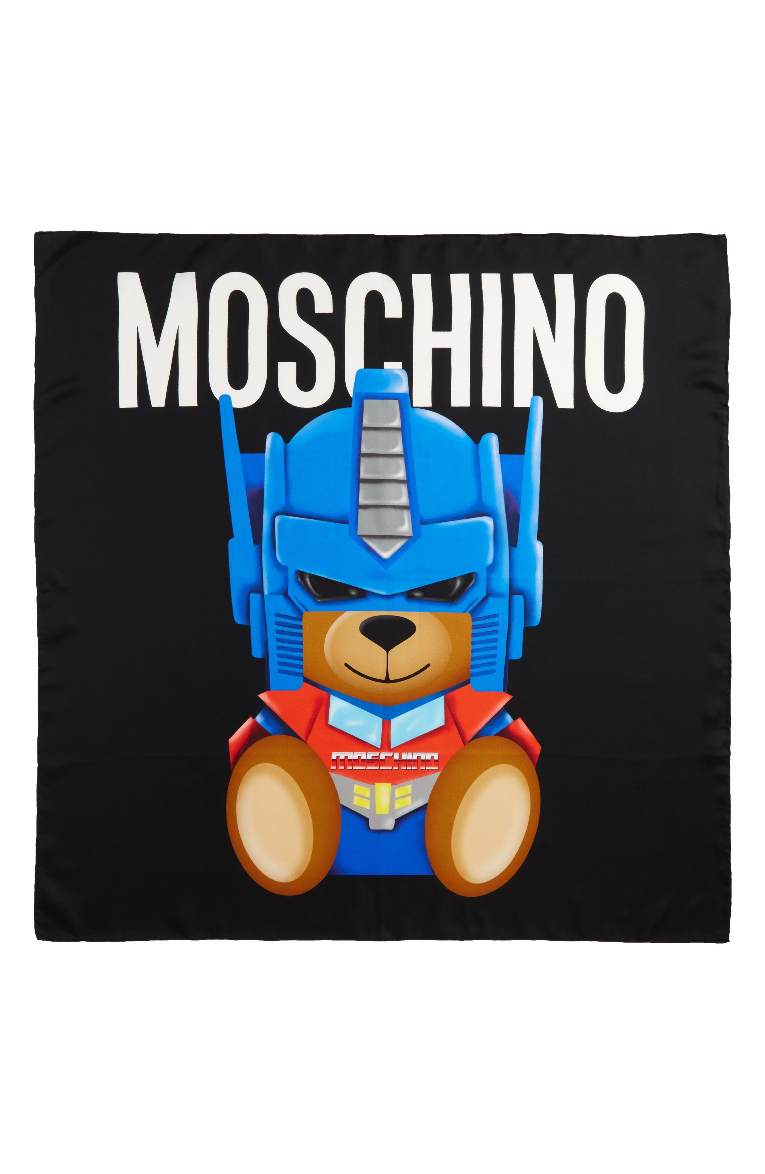 Transformers<sup>®</sup> Print Silk Scarf,                             Main thumbnail 1, color,                             001