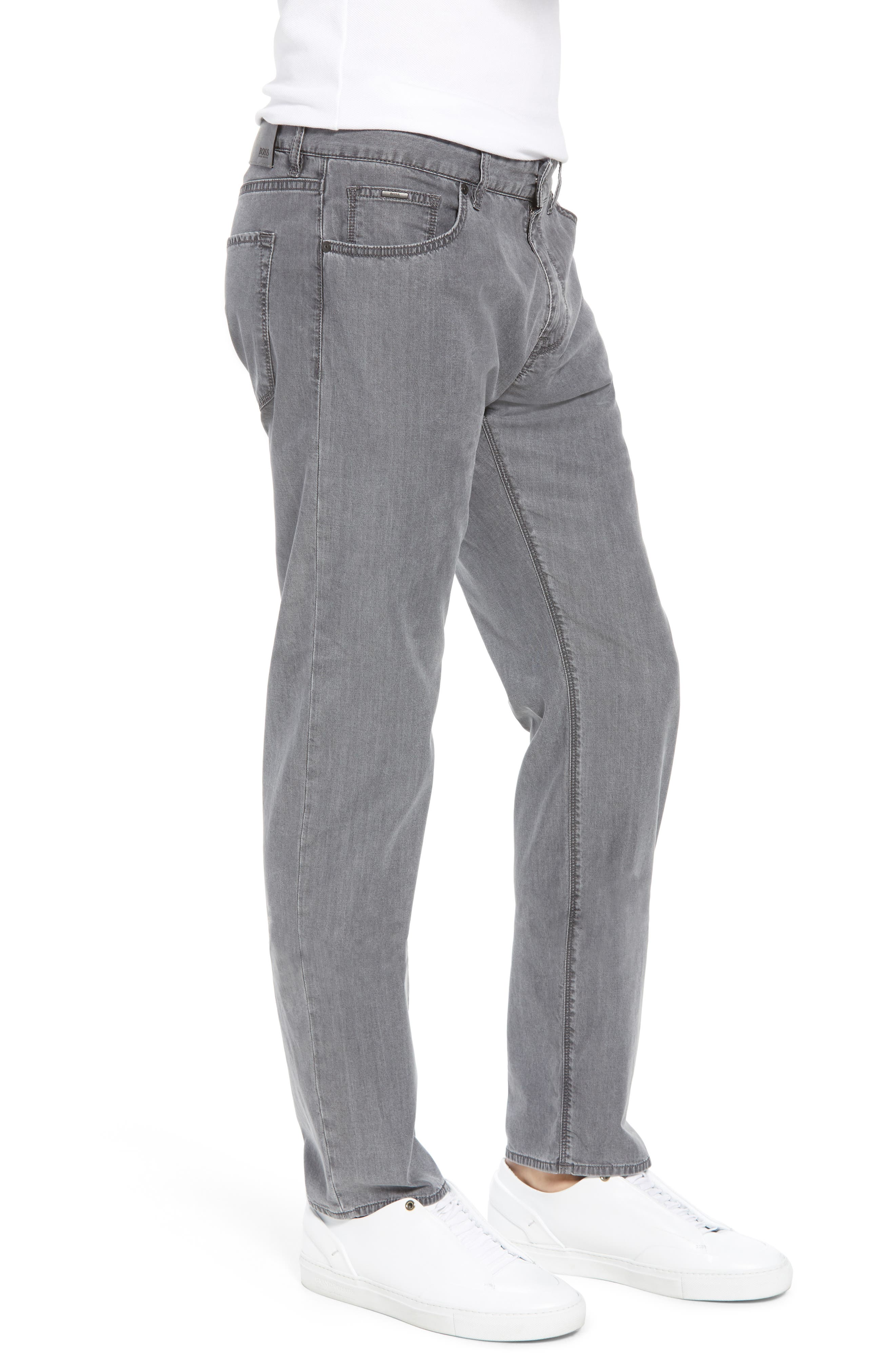 Maine Classic Fit Jeans,                             Alternate thumbnail 3, color,                             GREY