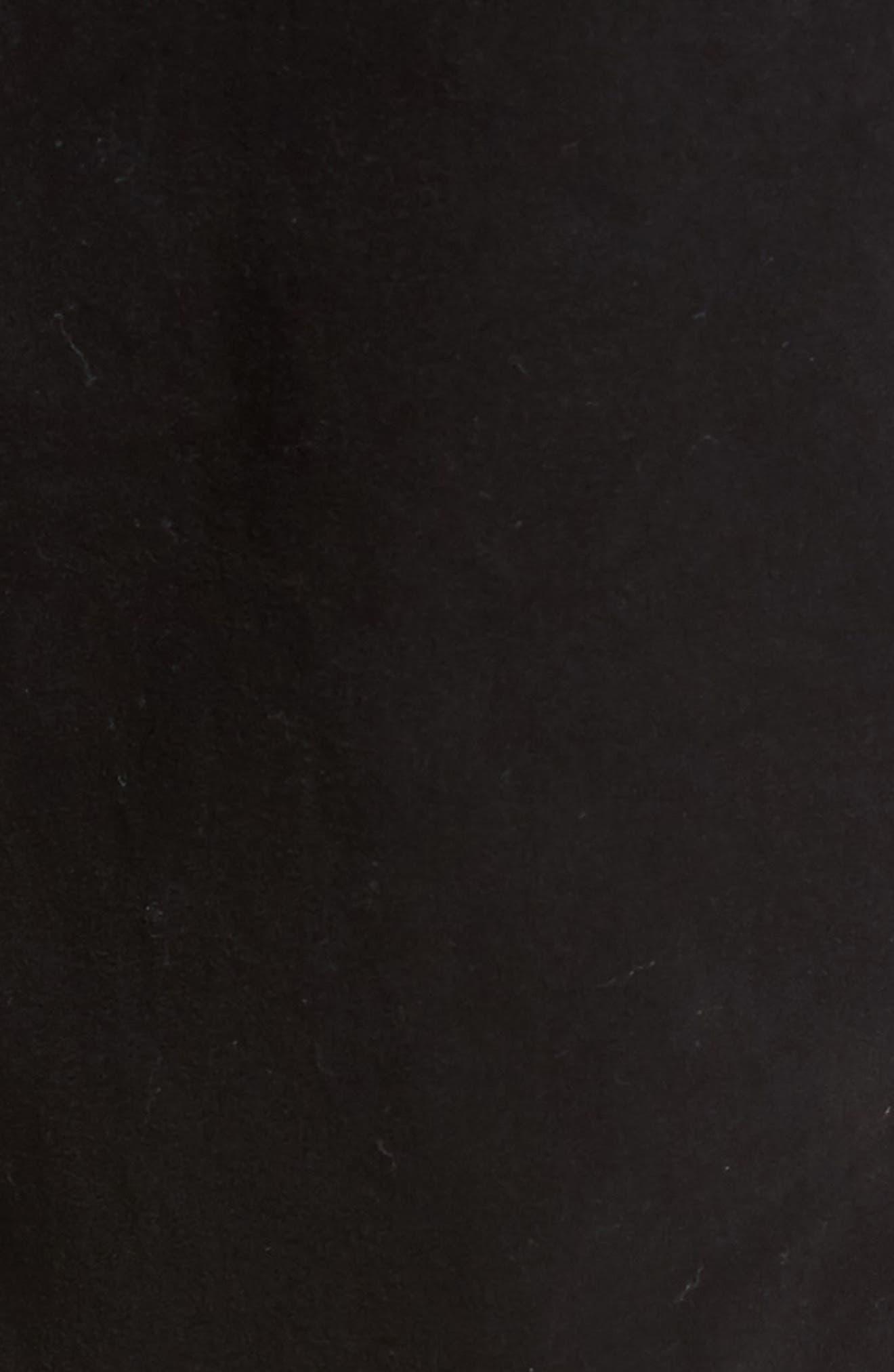 Brushed Twill Five-Pocket Pants,                             Alternate thumbnail 5, color,                             BLACK