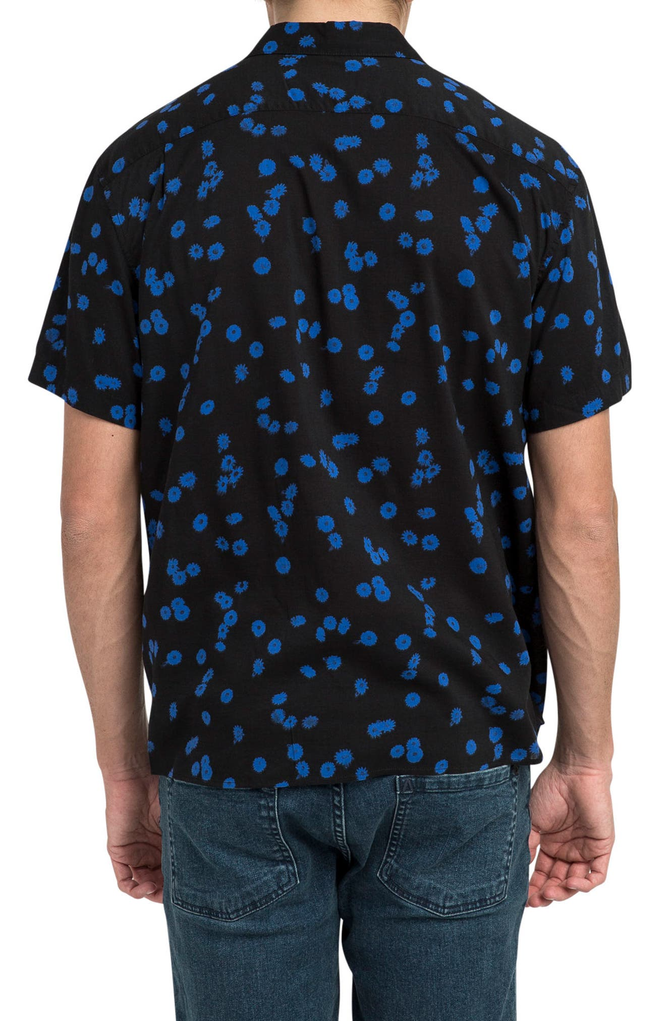 Overdye Floral Shirt,                             Alternate thumbnail 2, color,                             001
