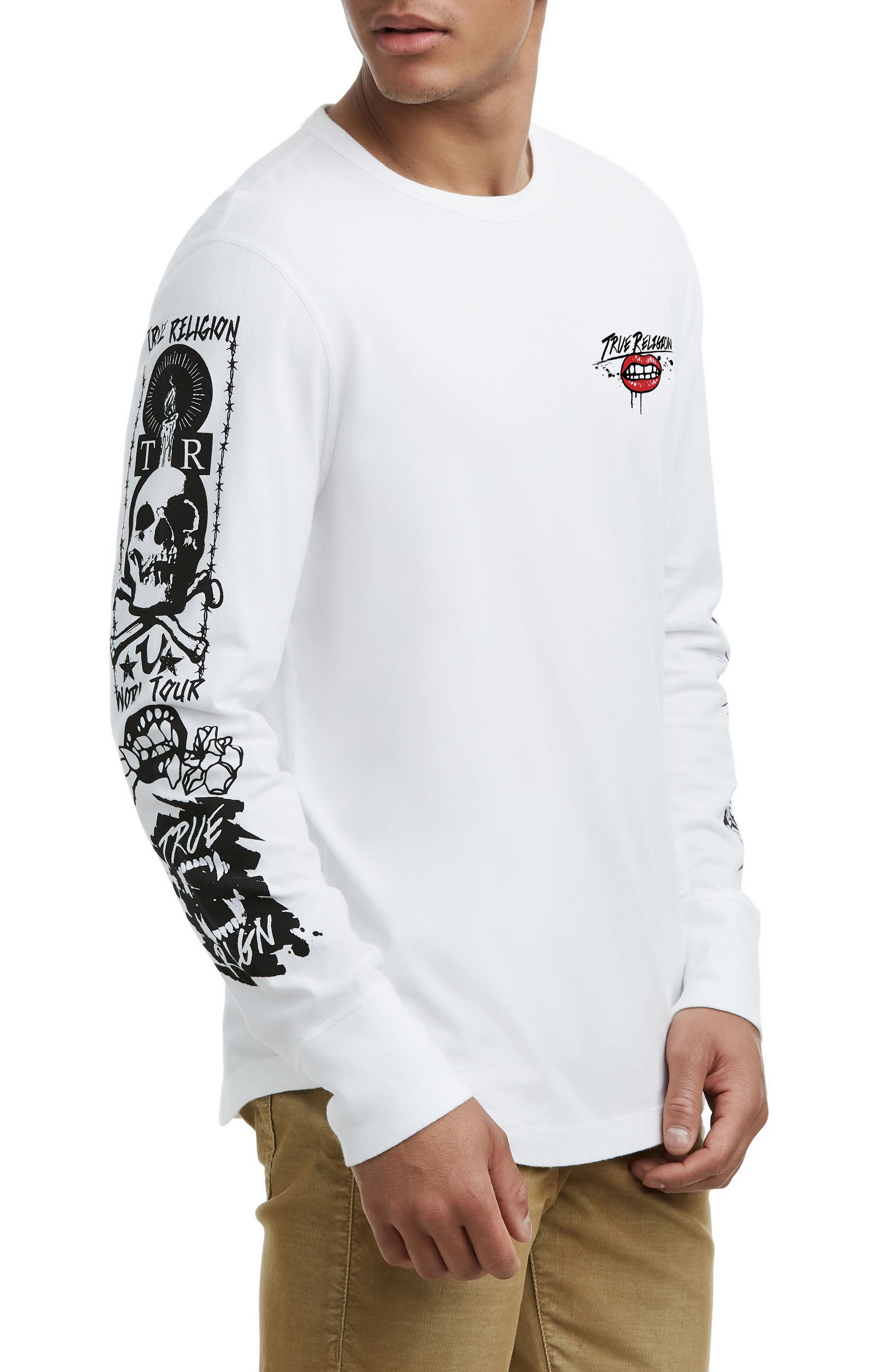 Long Sleeve Graphic T-Shirt,                         Main,                         color, 100