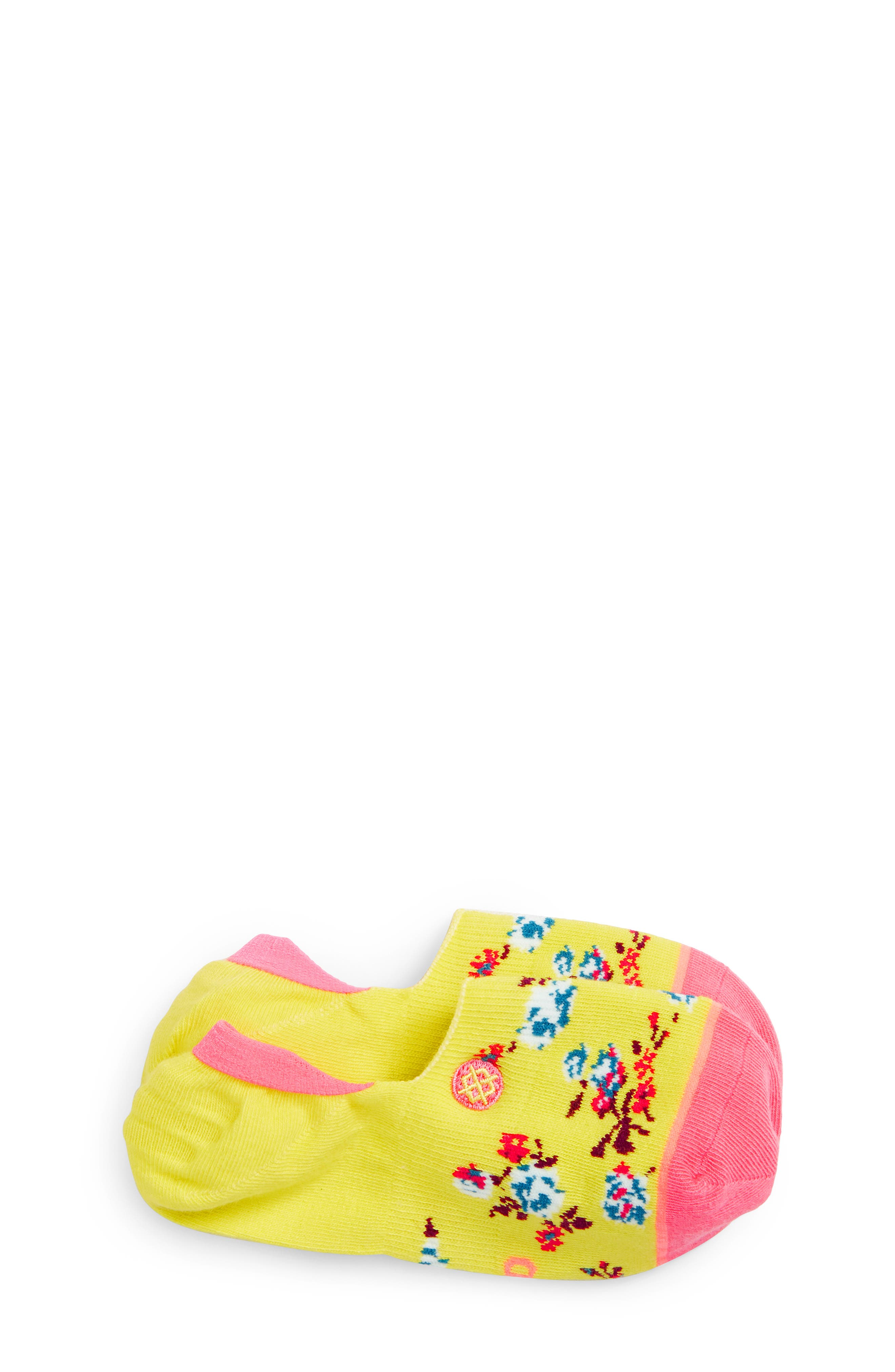 Ditzy Do No-Show Liner Socks,                         Main,                         color, YELLOW
