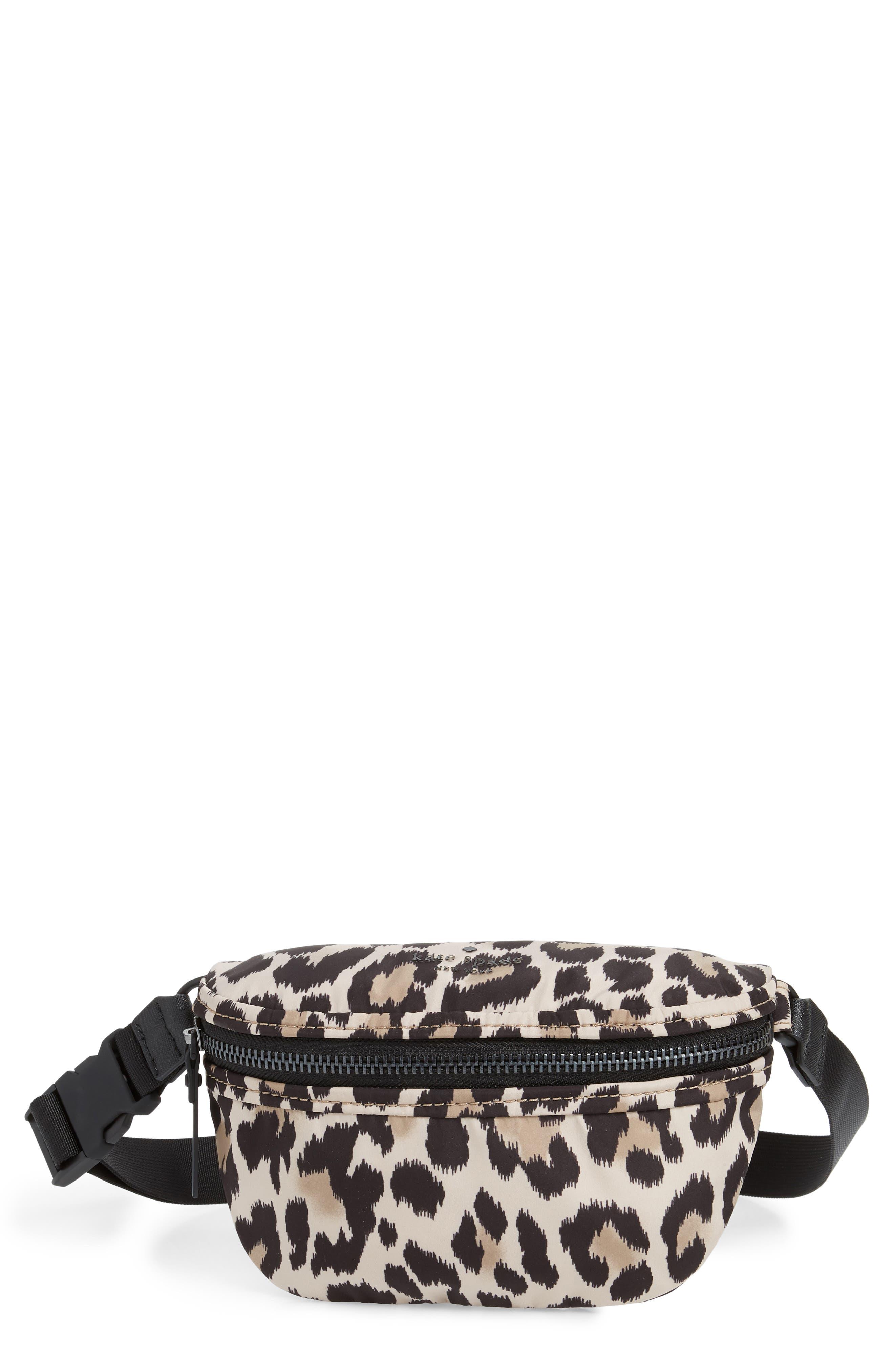 that's the spirit belt bag,                         Main,                         color, BLACK/ CREAM MULTI